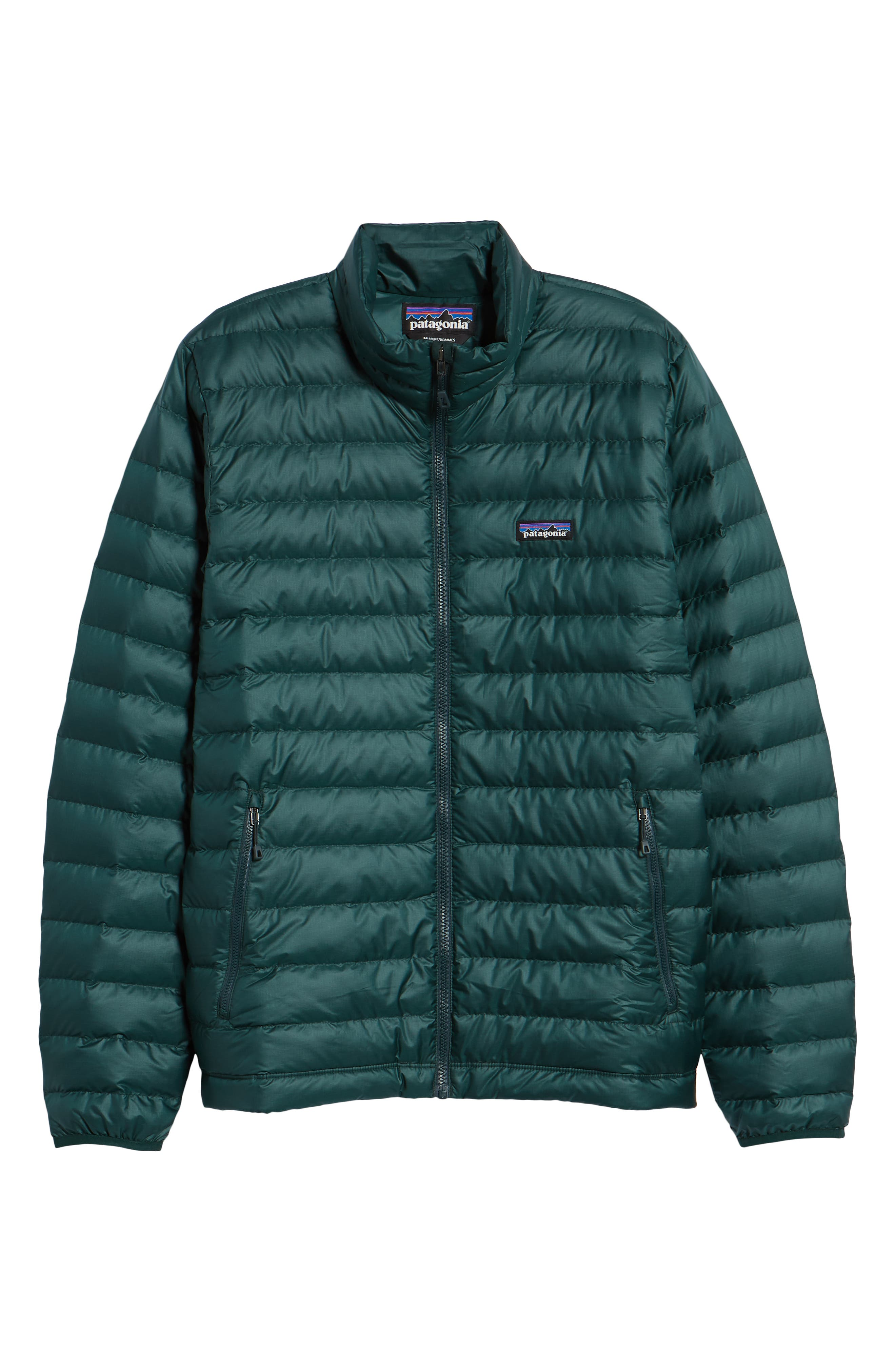 Water Repellent Down Jacket,                             Alternate thumbnail 5, color,                             MICRO GREEN
