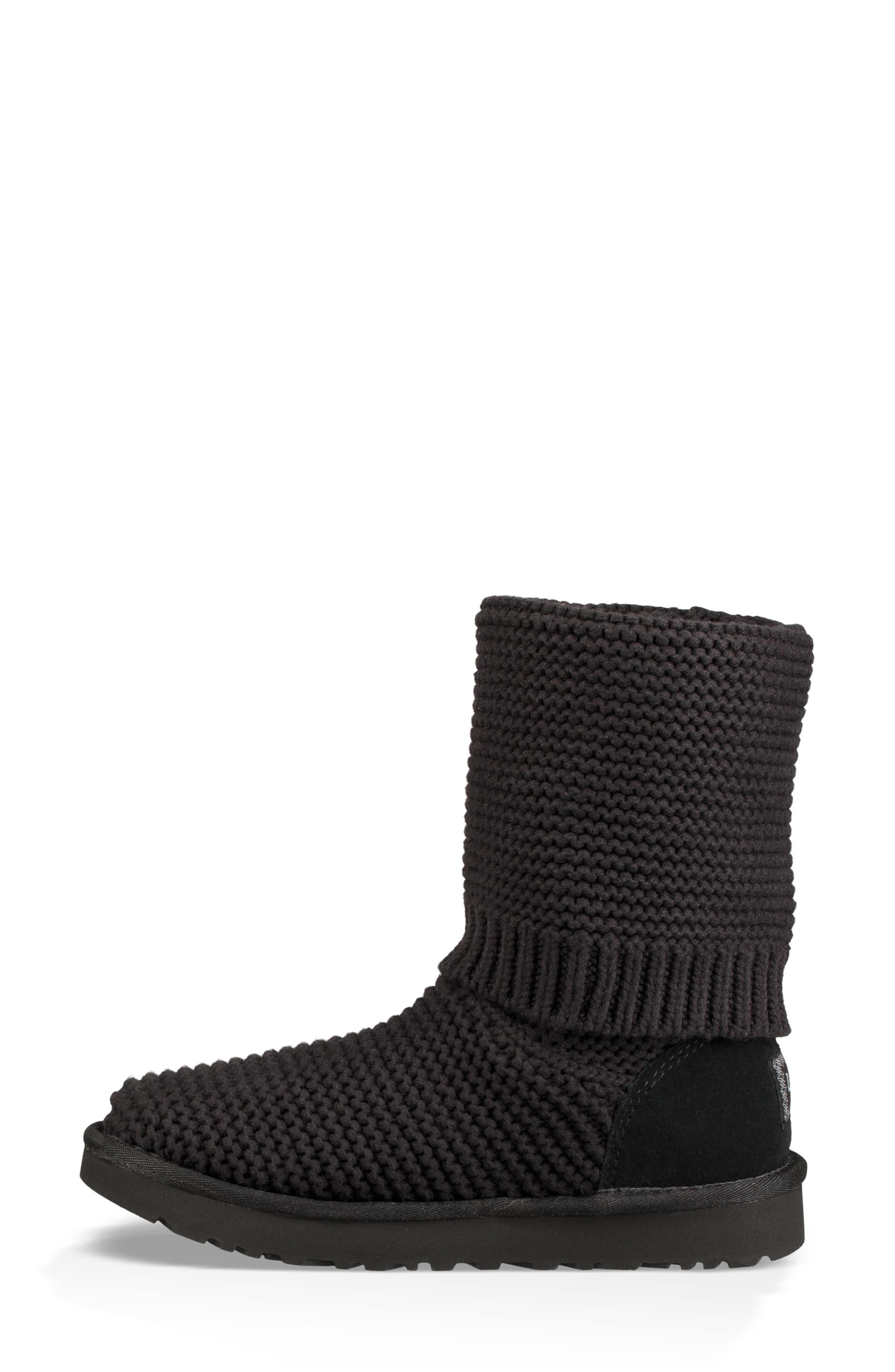UGG<SUP>®</SUP>,                             Purl Cardy Knit Boot,                             Alternate thumbnail 8, color,                             001