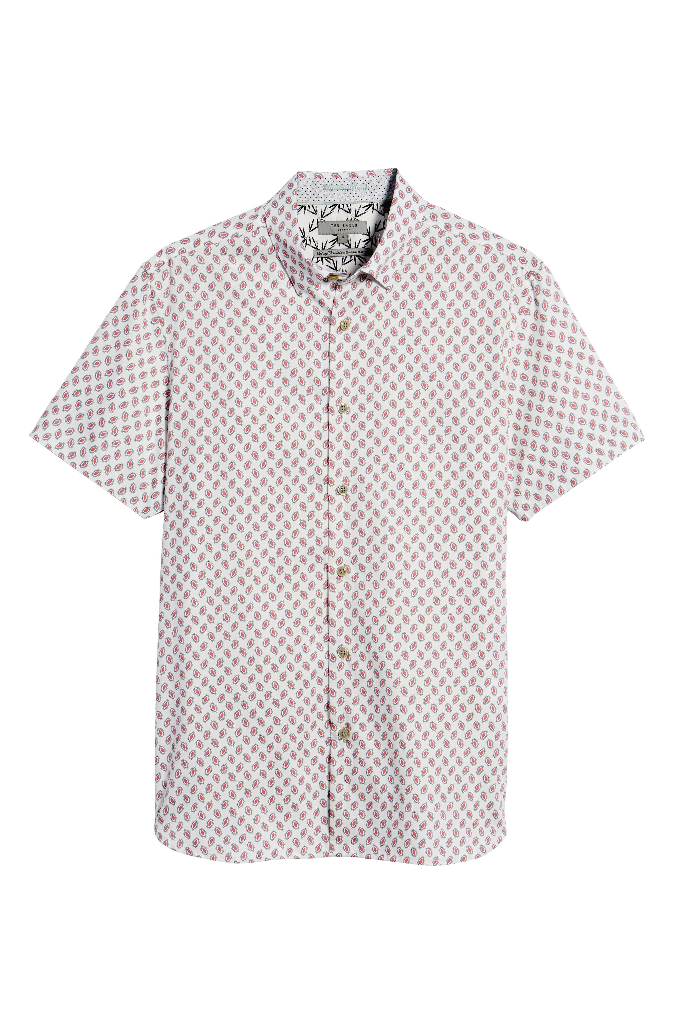 Newfone Trim Fit Chambray Sport Shirt,                             Alternate thumbnail 24, color,