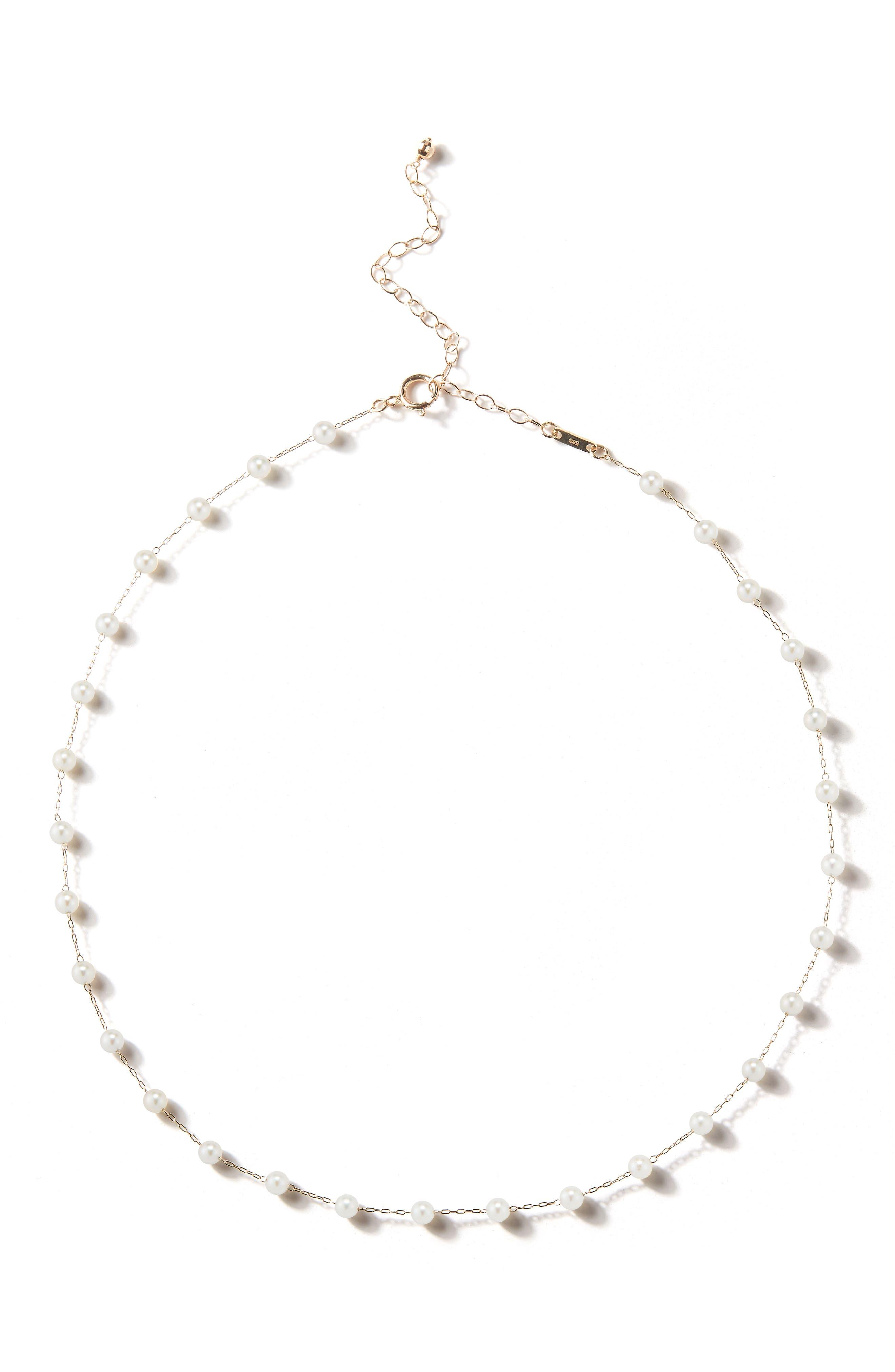 Pearl Choker Necklace,                             Main thumbnail 1, color,                             710