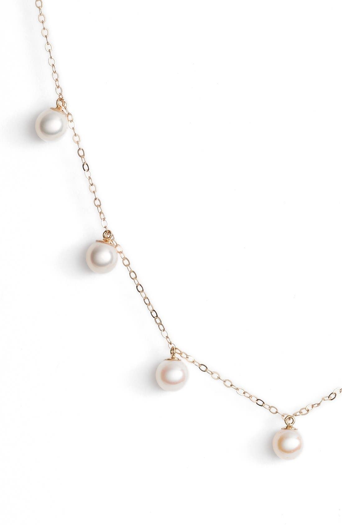 Pearl Collar Necklace,                             Alternate thumbnail 5, color,                             YELLOW GOLD/ PEARL