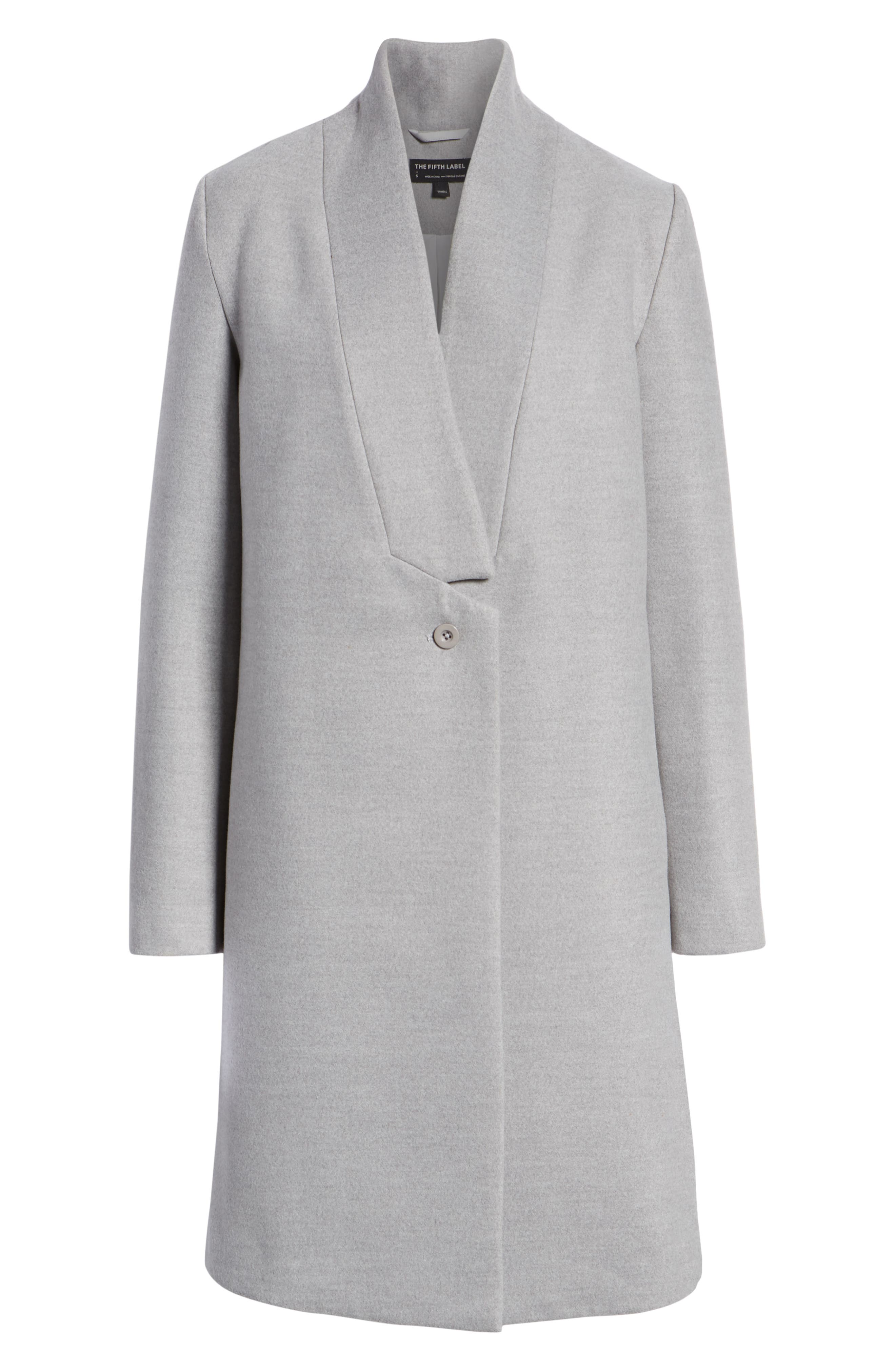 Seminar Coat,                             Alternate thumbnail 6, color,                             GREY MARLE