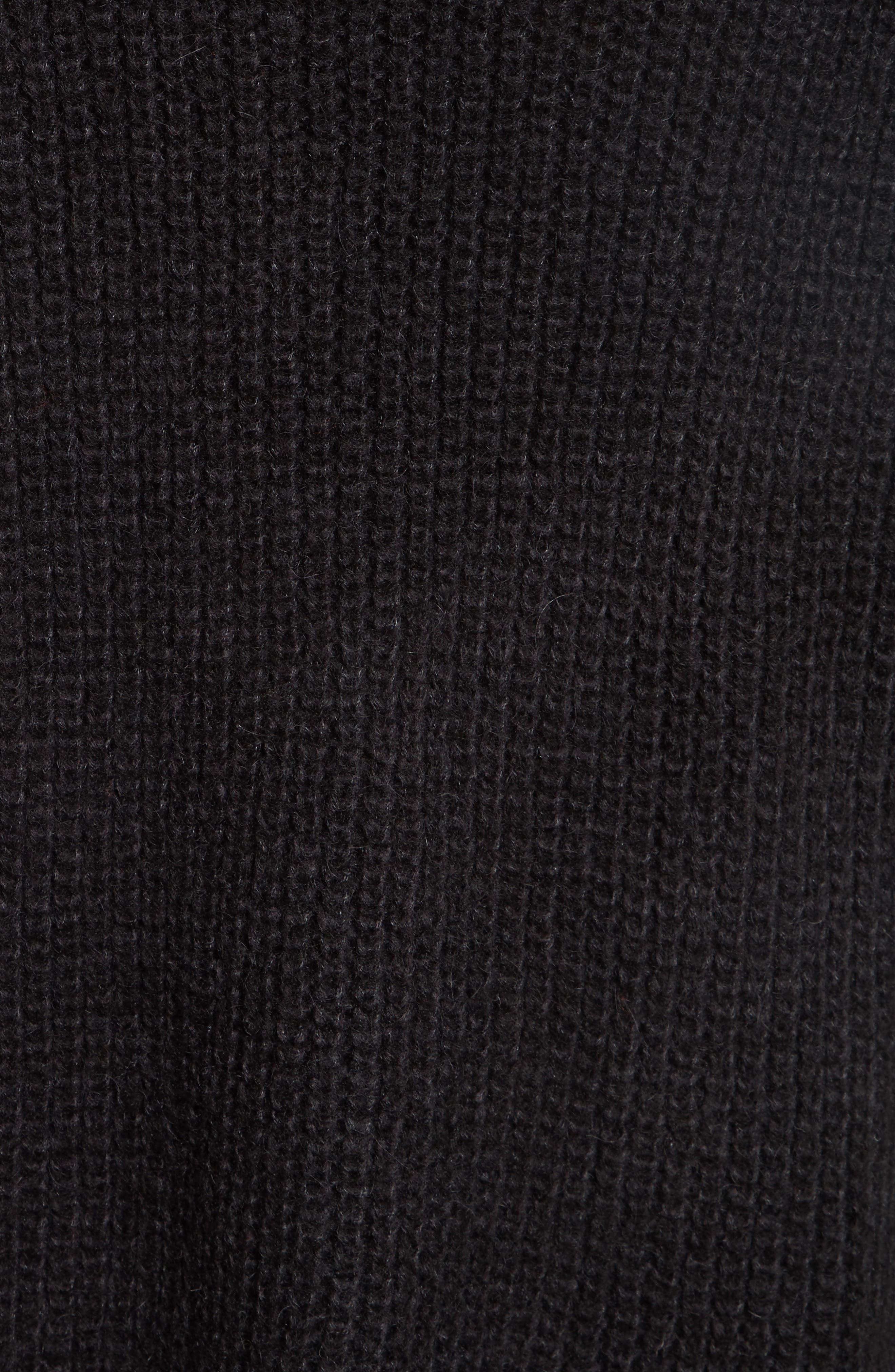 Remi Oversize Sweater,                             Alternate thumbnail 5, color,                             001