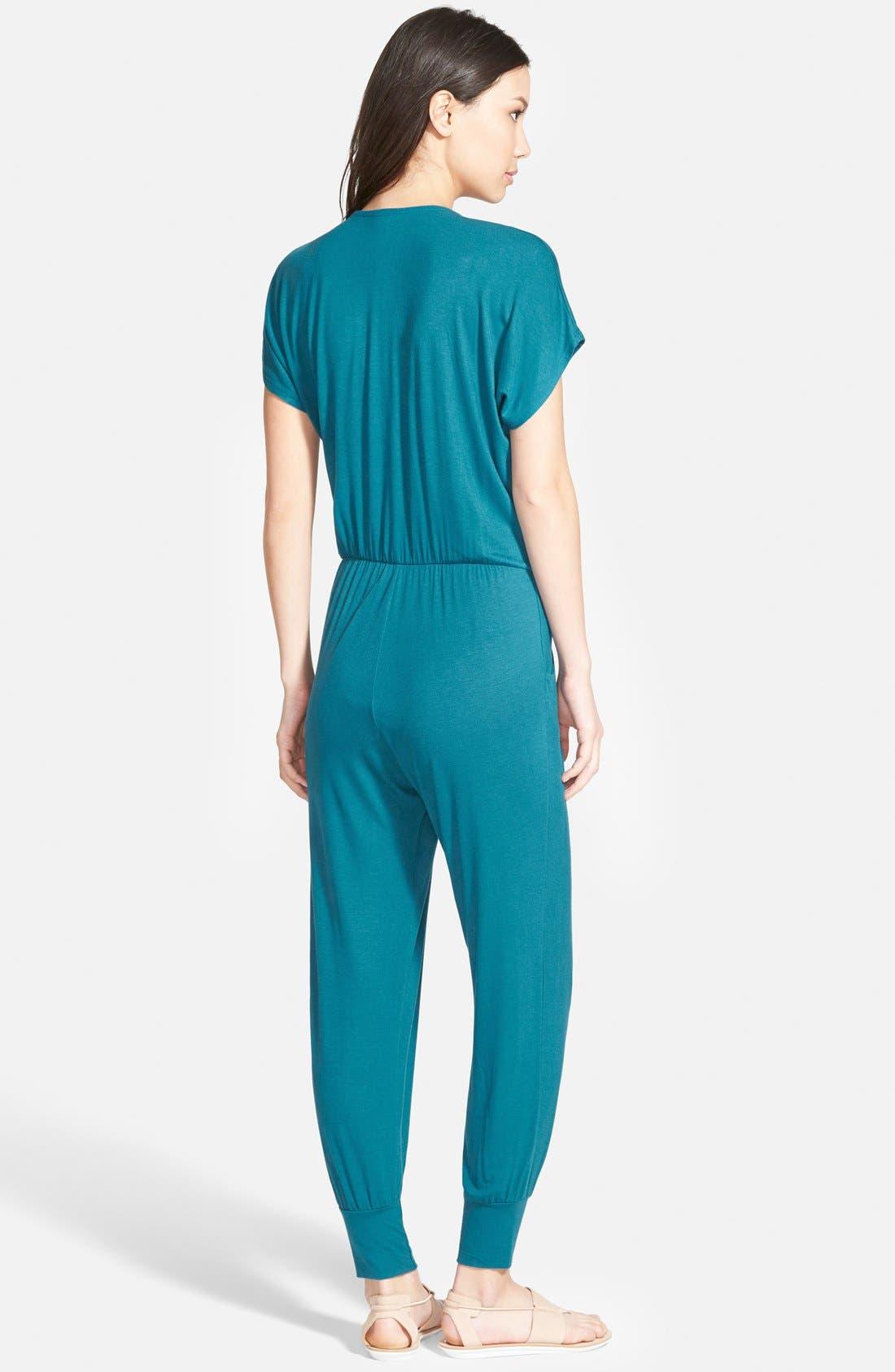 Short Sleeve Wrap Top Jumpsuit,                             Alternate thumbnail 26, color,