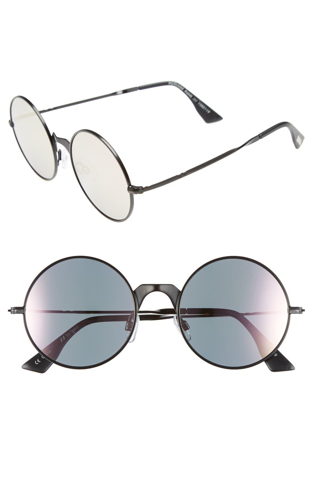 'Poolside Punk' 53mm Retro Sunglasses,                         Main,                         color, 001
