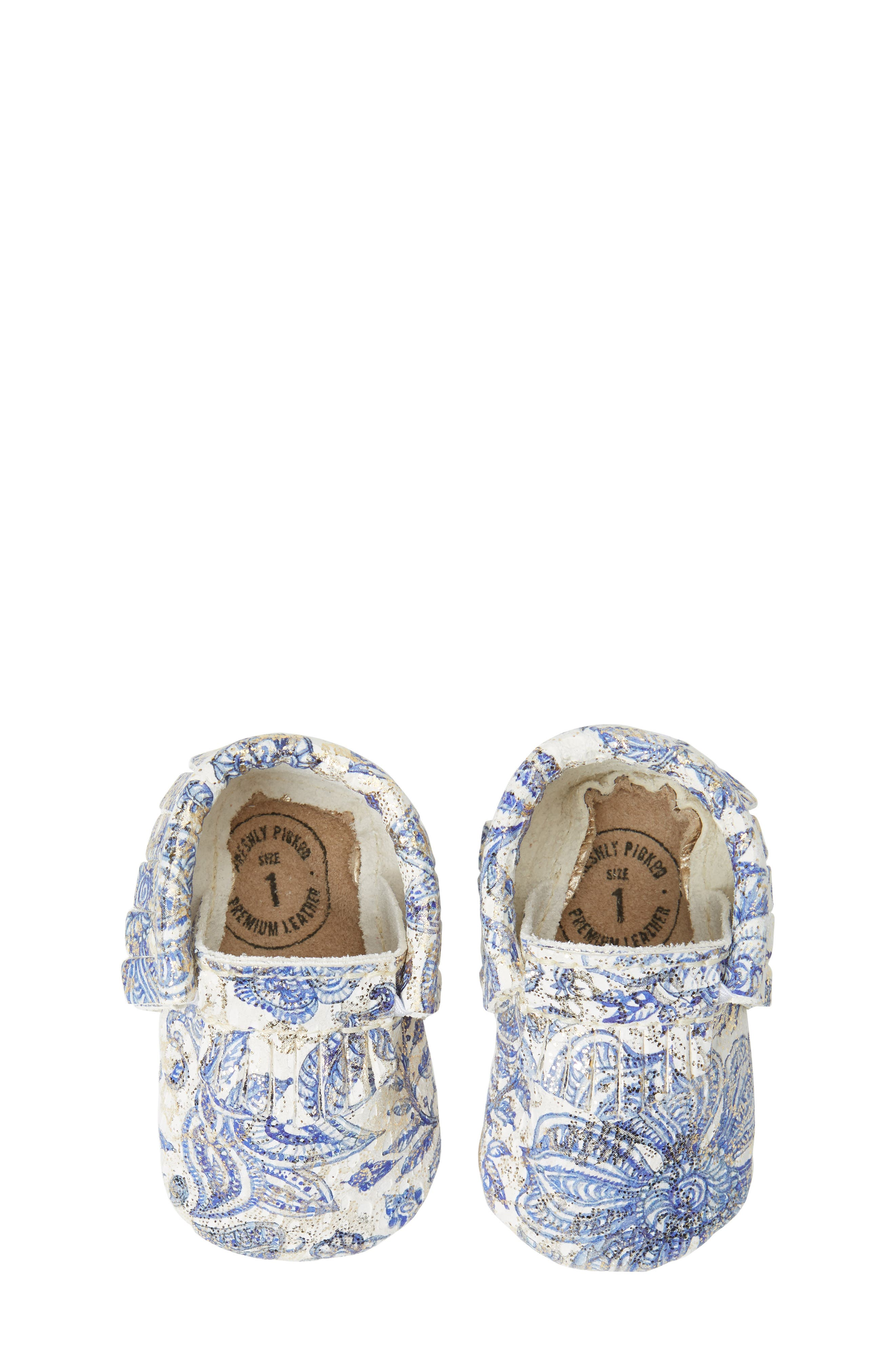Paisley Glitter Moccasin,                         Main,                         color, 408