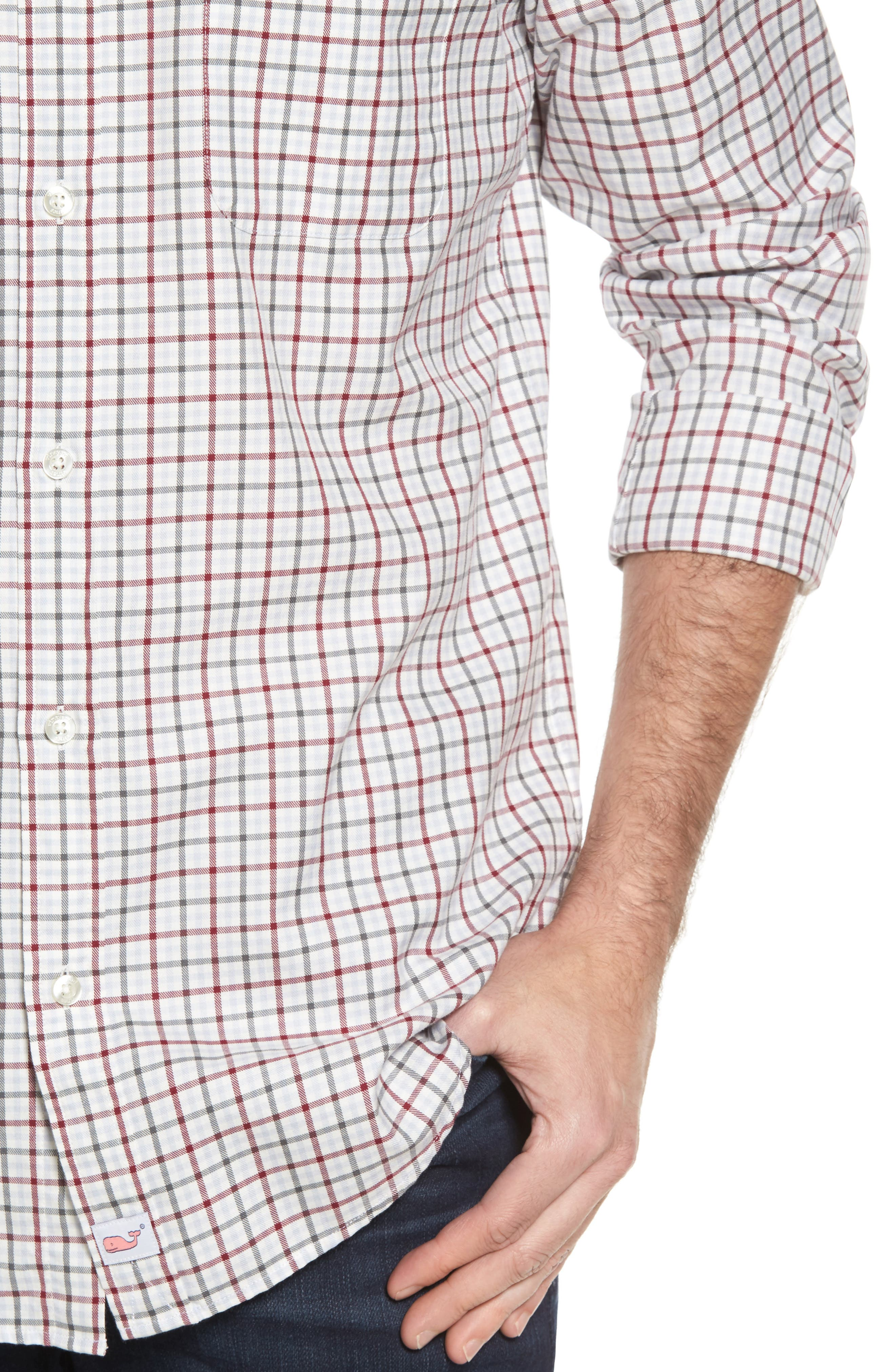 Classic Fit Tucker Cocktail Club Check Sport Shirt,                             Alternate thumbnail 4, color,                             644