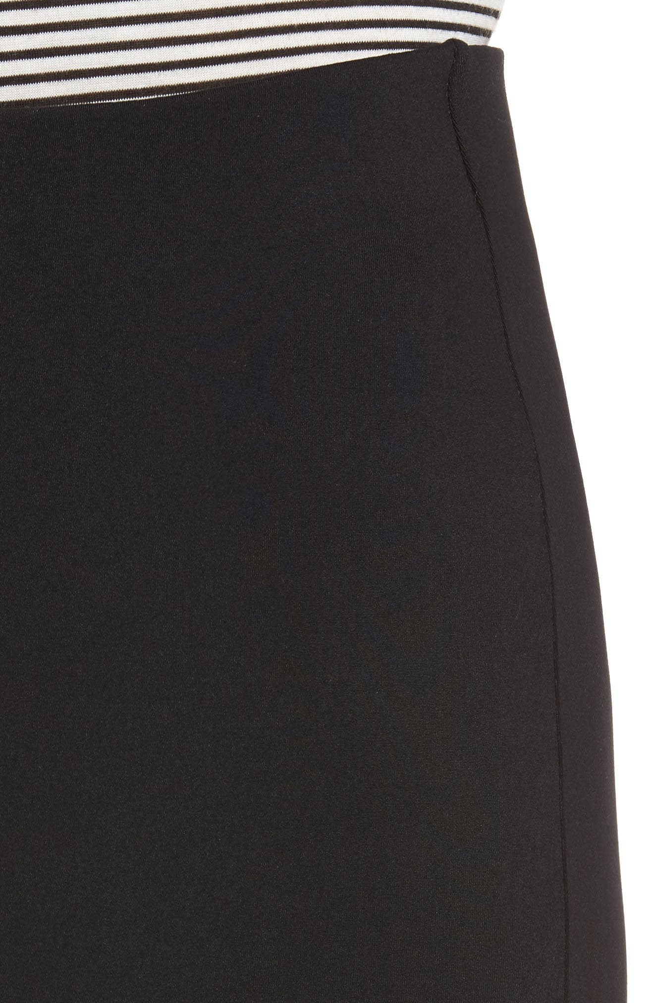 Tube High Rise Pencil Skirt,                             Alternate thumbnail 4, color,                             BLACK