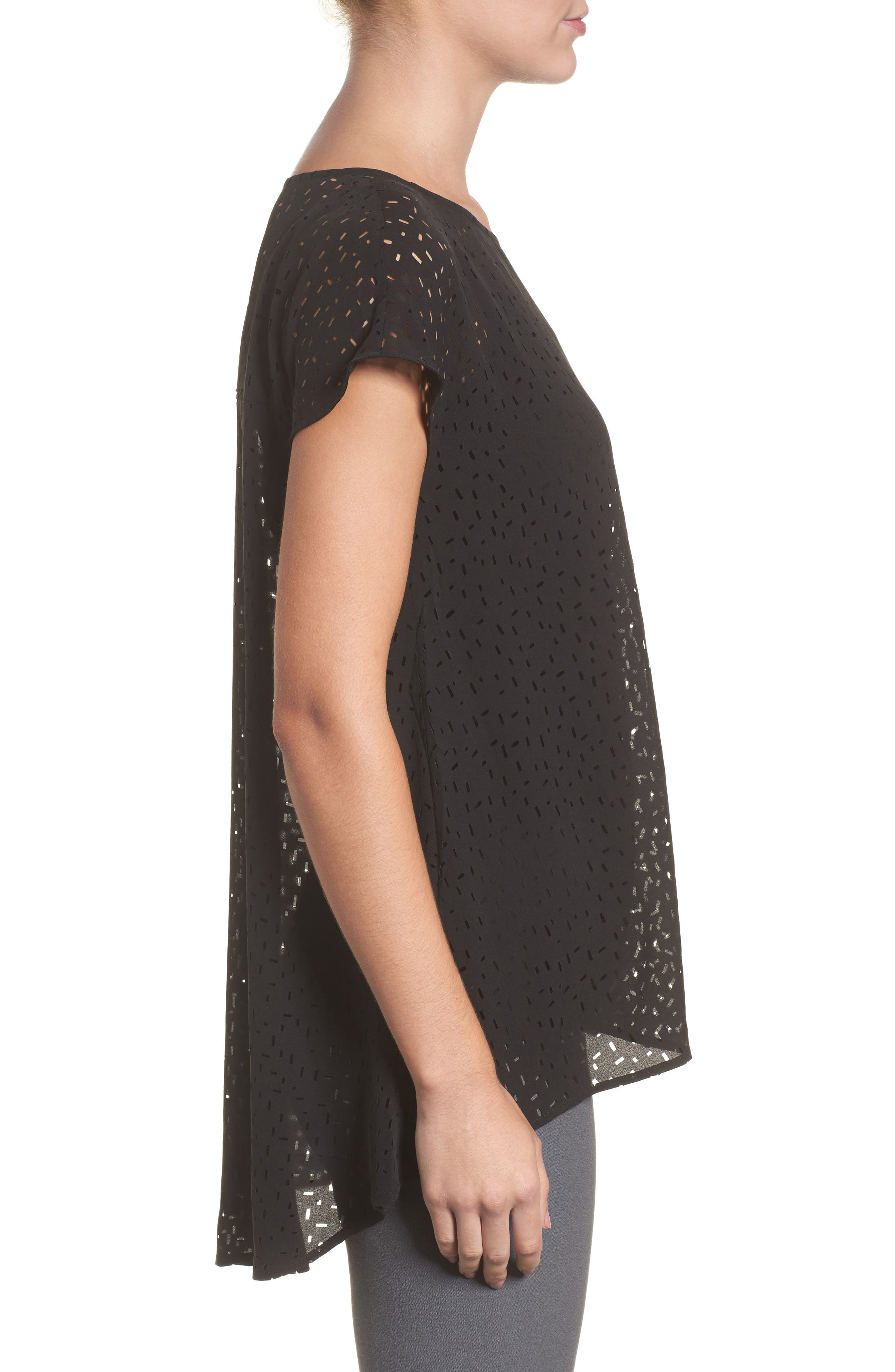 Cutwork Silk Top,                             Alternate thumbnail 5, color,