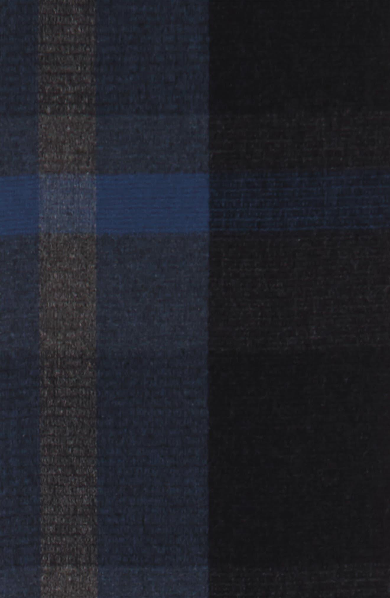 Plaid Wool Scarf,                             Alternate thumbnail 6, color,