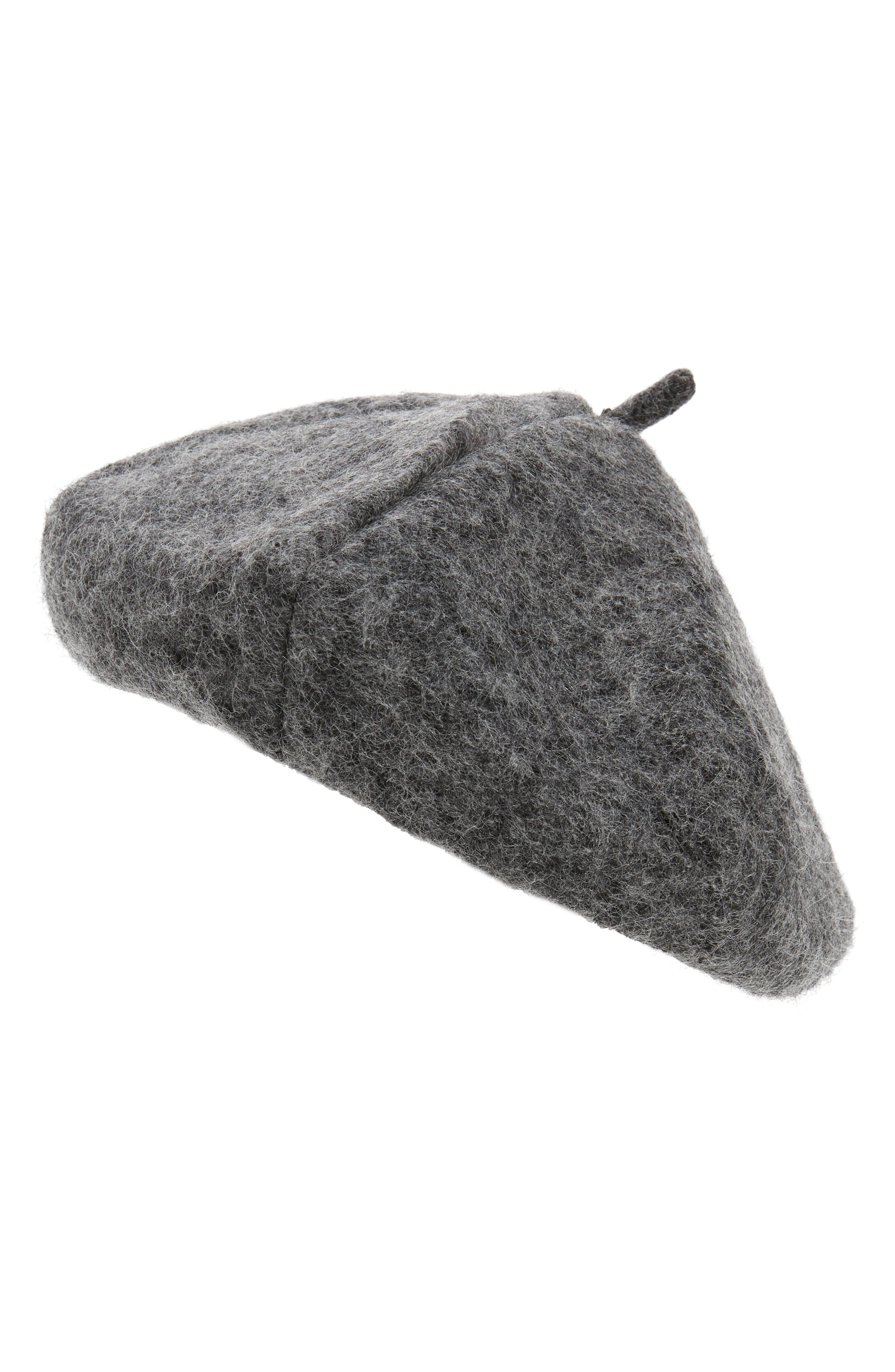 Heathered Beret,                             Main thumbnail 1, color,                             DARK CHARCOAL HEATHER
