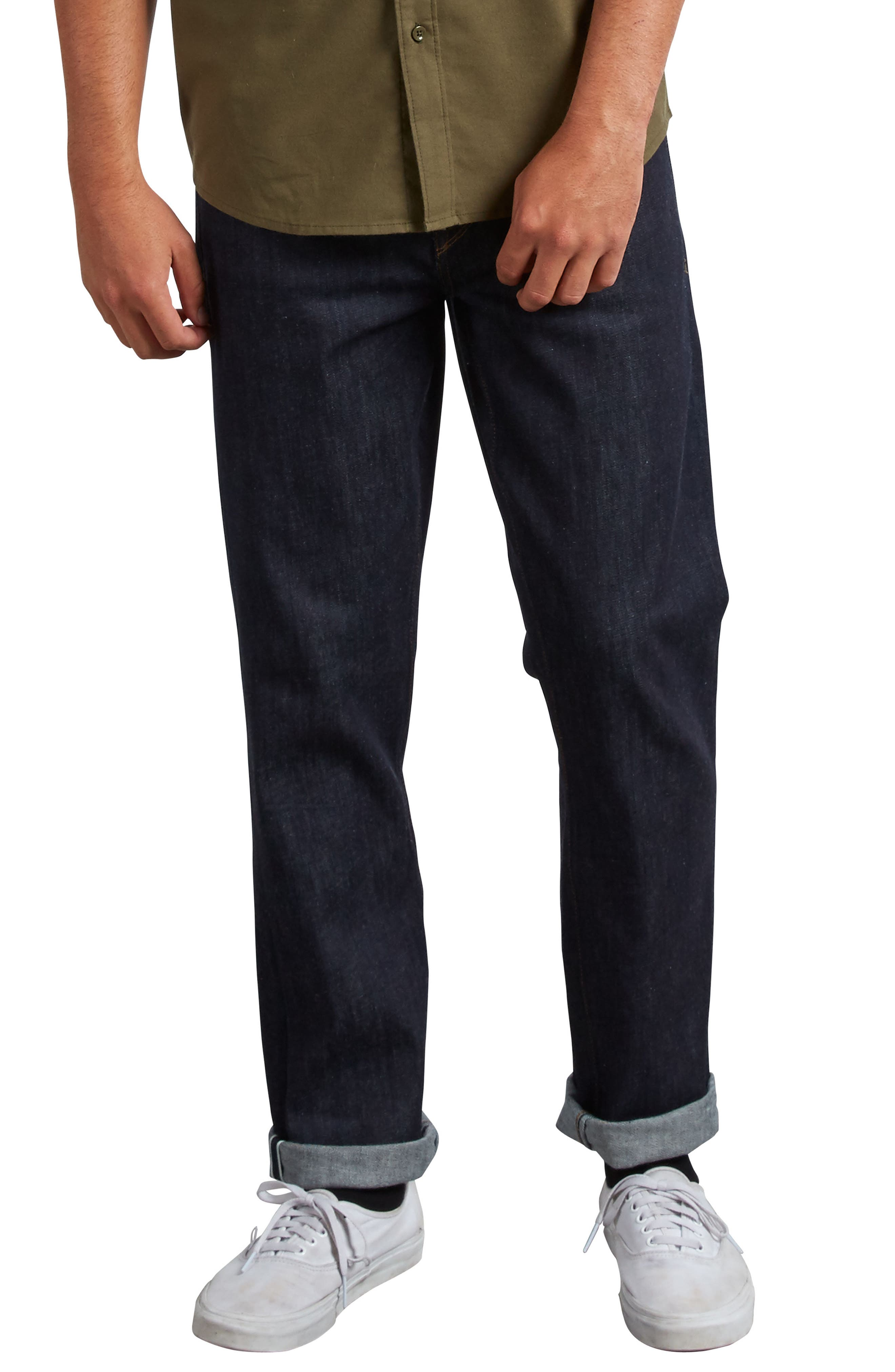 'Solver' Straight Leg Jeans,                             Main thumbnail 1, color,                             SELVEDGE BLUE