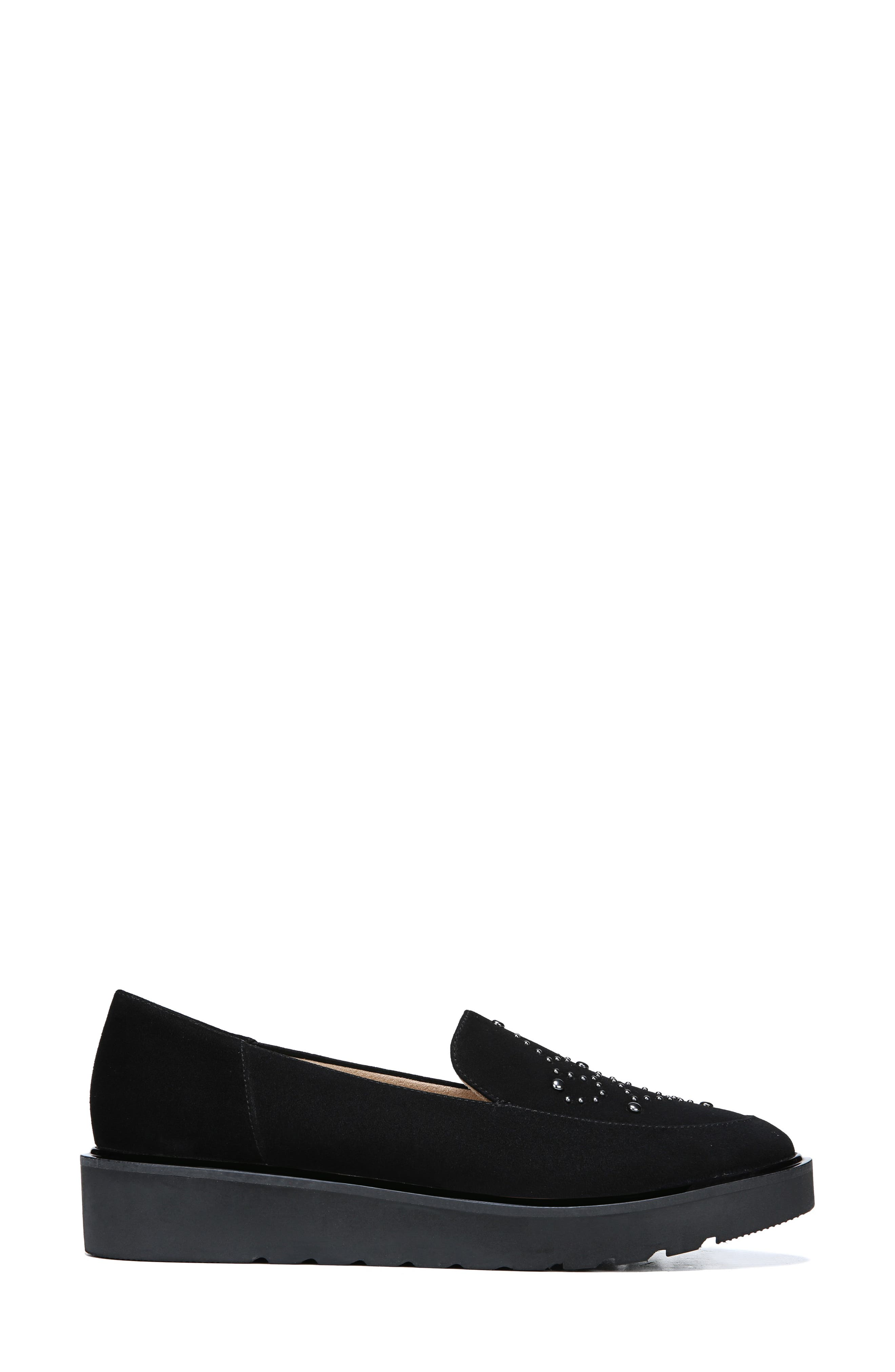 Andie Loafer,                             Alternate thumbnail 2, color,                             BLACK SUEDE