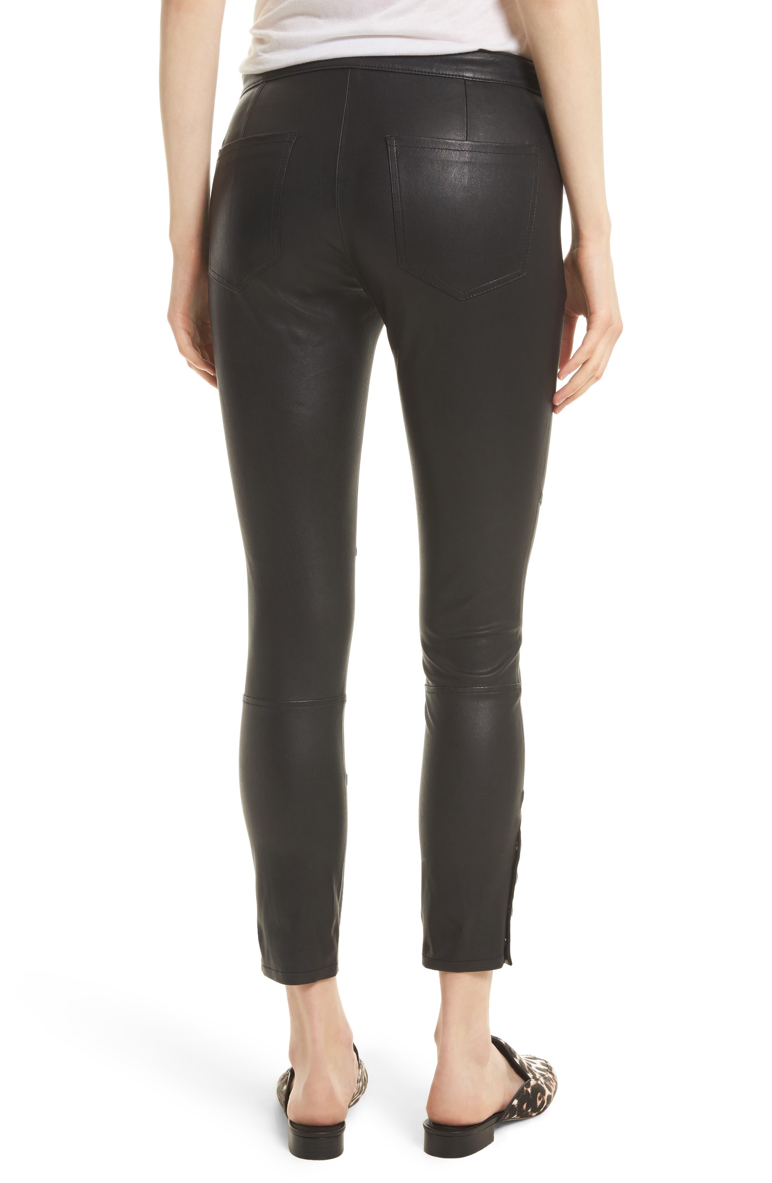 Darnella Leather Pants,                             Alternate thumbnail 2, color,                             002