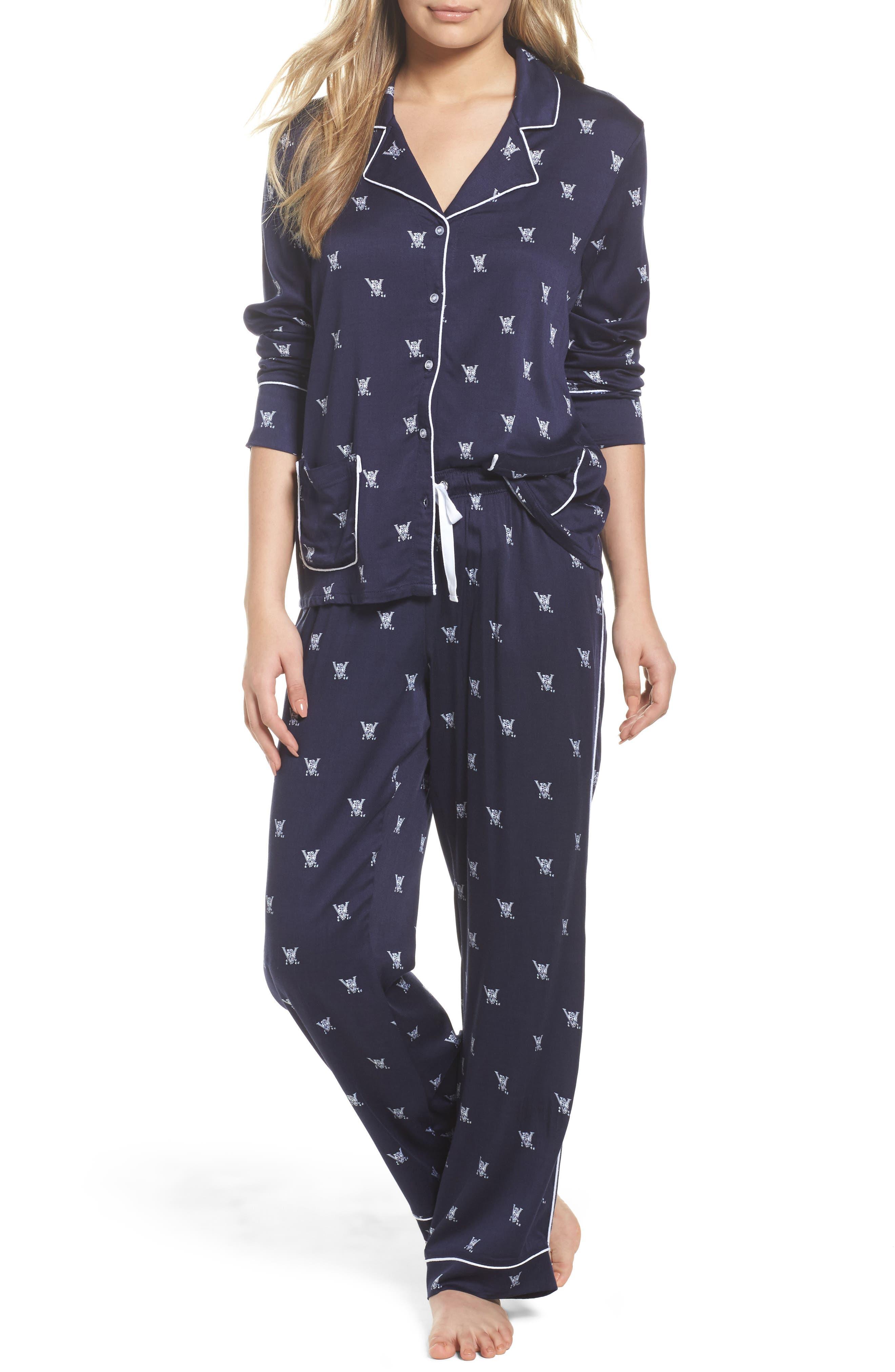 Notch Collar Pajamas,                             Main thumbnail 1, color,                             400