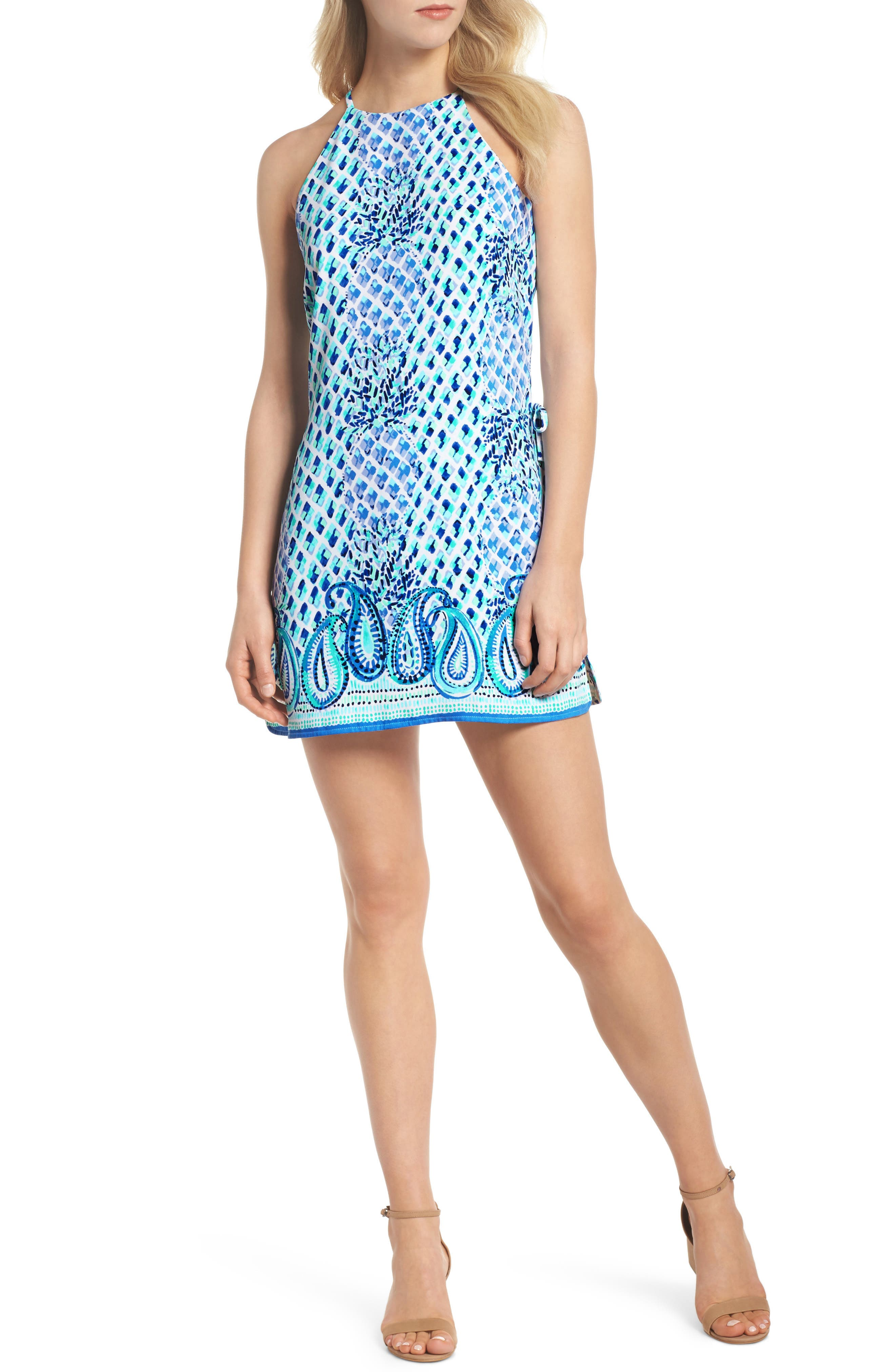 LILLY PULITZER<SUP>®</SUP> Pearl Romper Dress, Main, color, 400