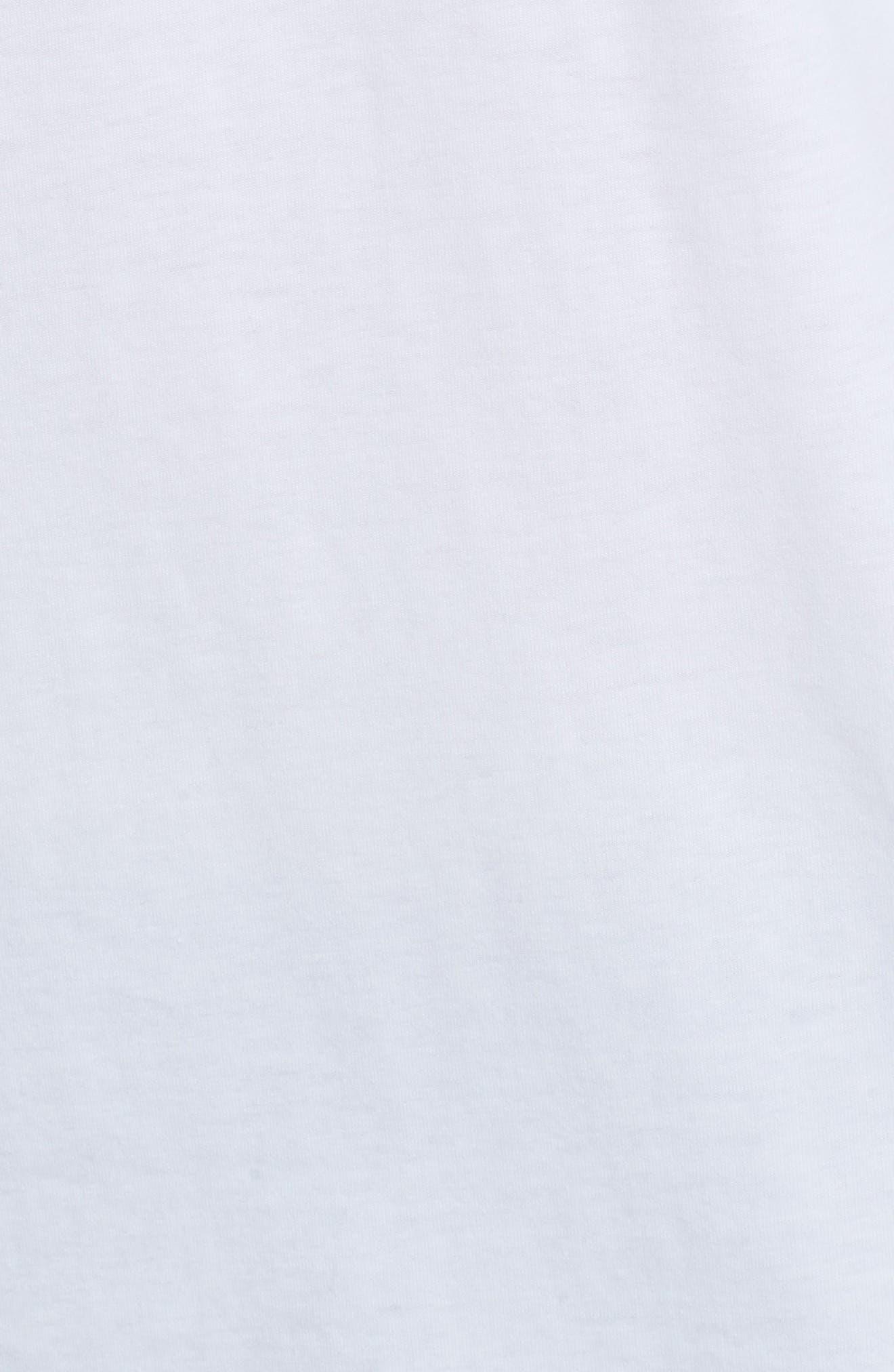 V-Neck T-Shirt,                             Alternate thumbnail 5, color,                             WHITE