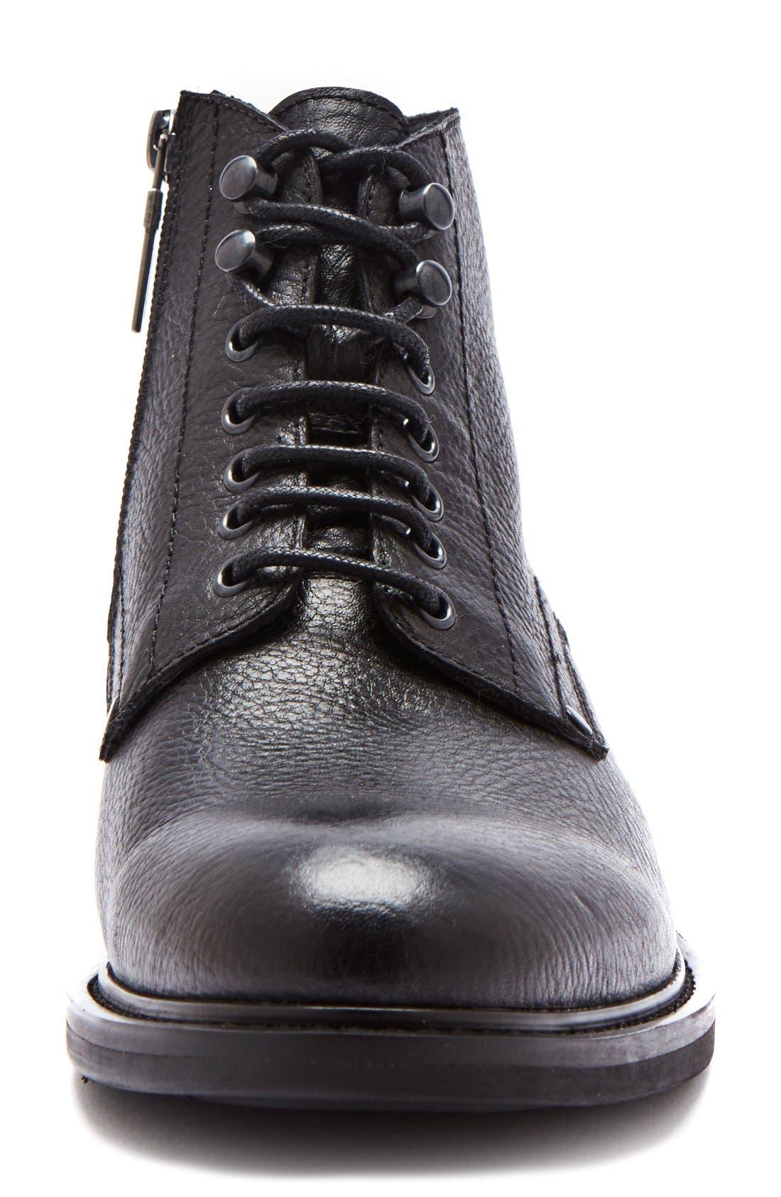 'Float' Waterproof Plain Toe Boot,                             Alternate thumbnail 3, color,                             001