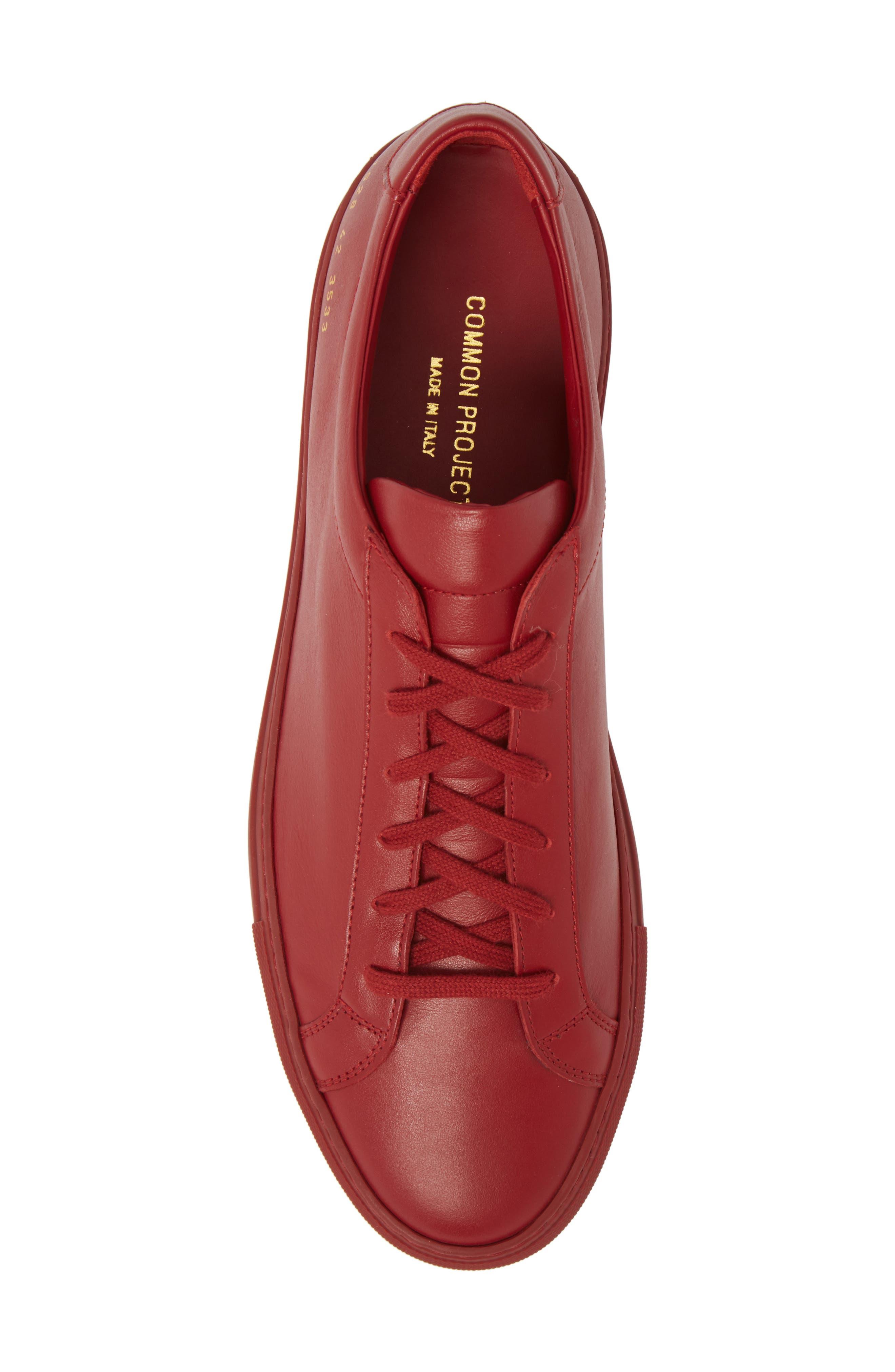 Original Achilles Sneaker,                             Alternate thumbnail 5, color,                             RED LEATHER