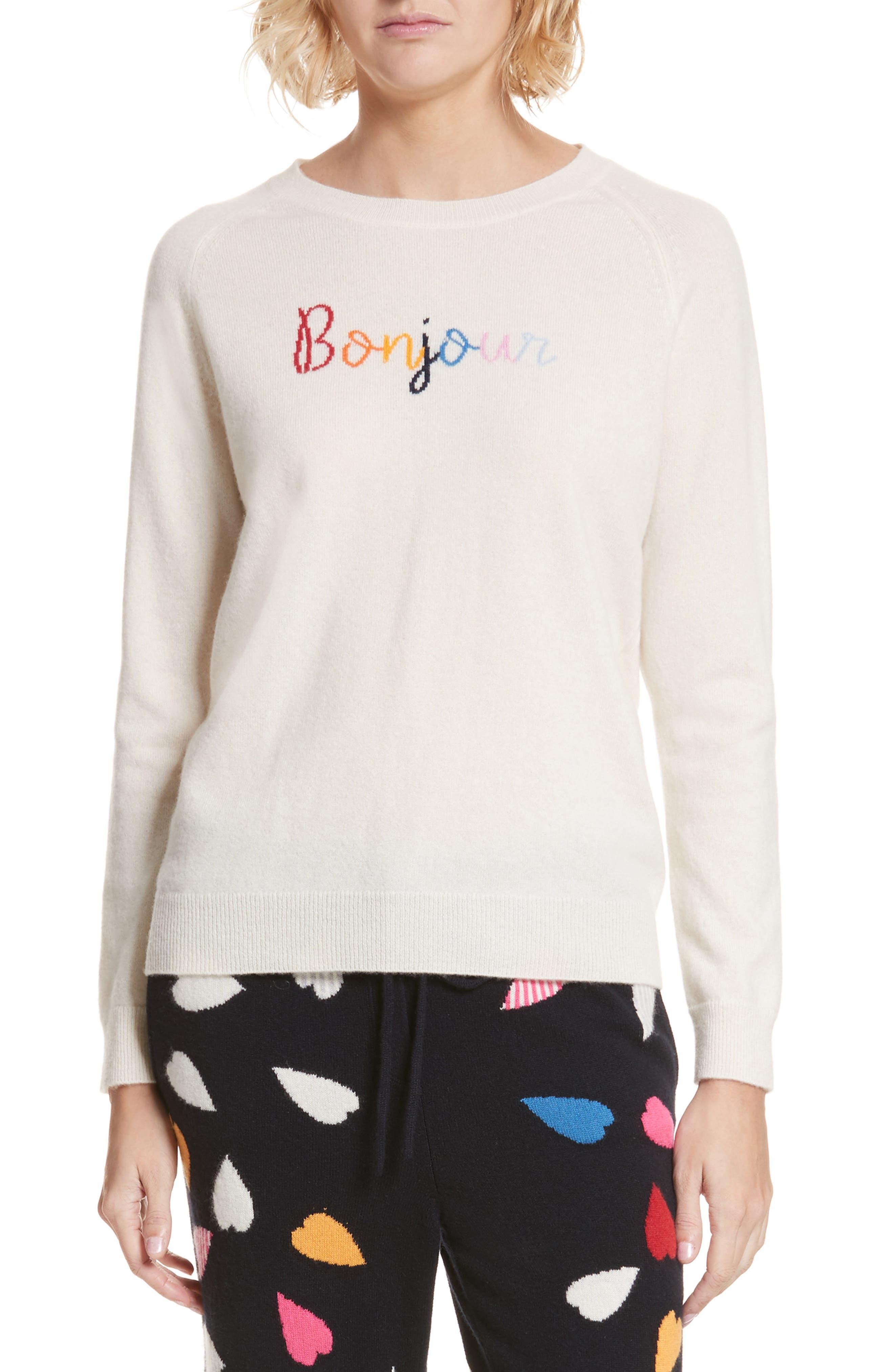 CHINTI & PARKER Bonjour/Bonsoir Cashmere Sweater,                         Main,                         color, 900