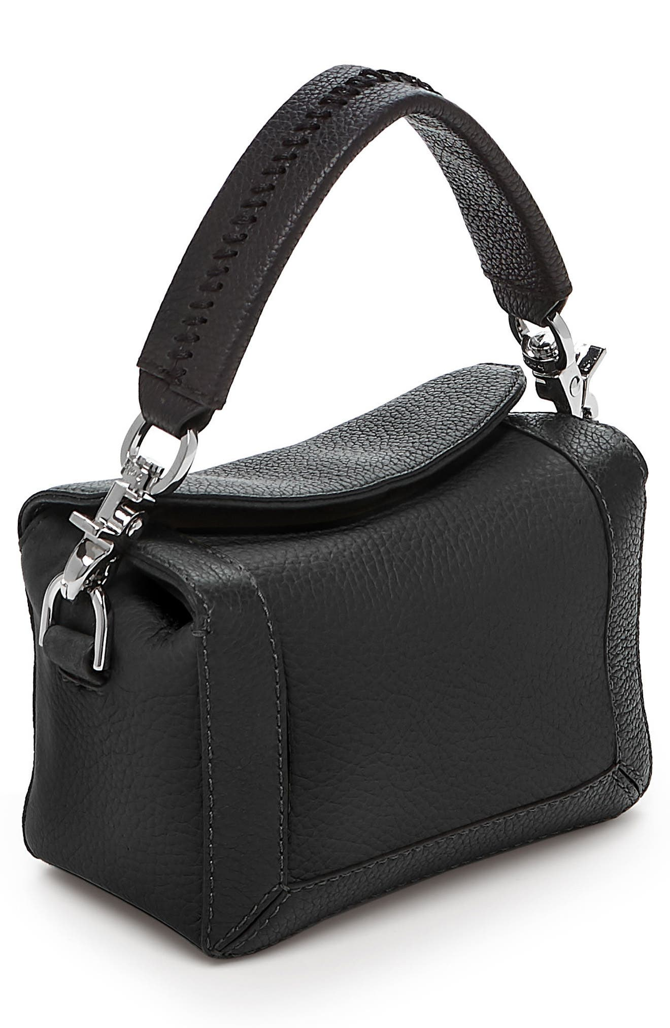 BOTKIER,                             Small Barrow Leather Crossbody Bag,                             Alternate thumbnail 3, color,                             001