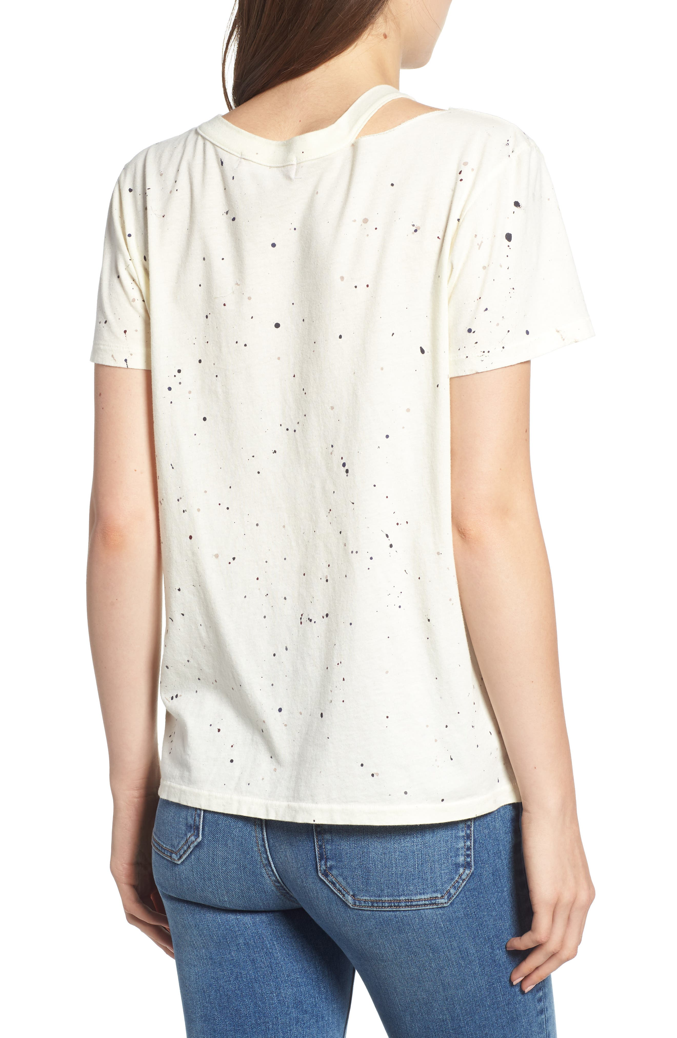Zander Distressed Spatter Tee,                             Alternate thumbnail 2, color,                             CLOUD SPLATTER