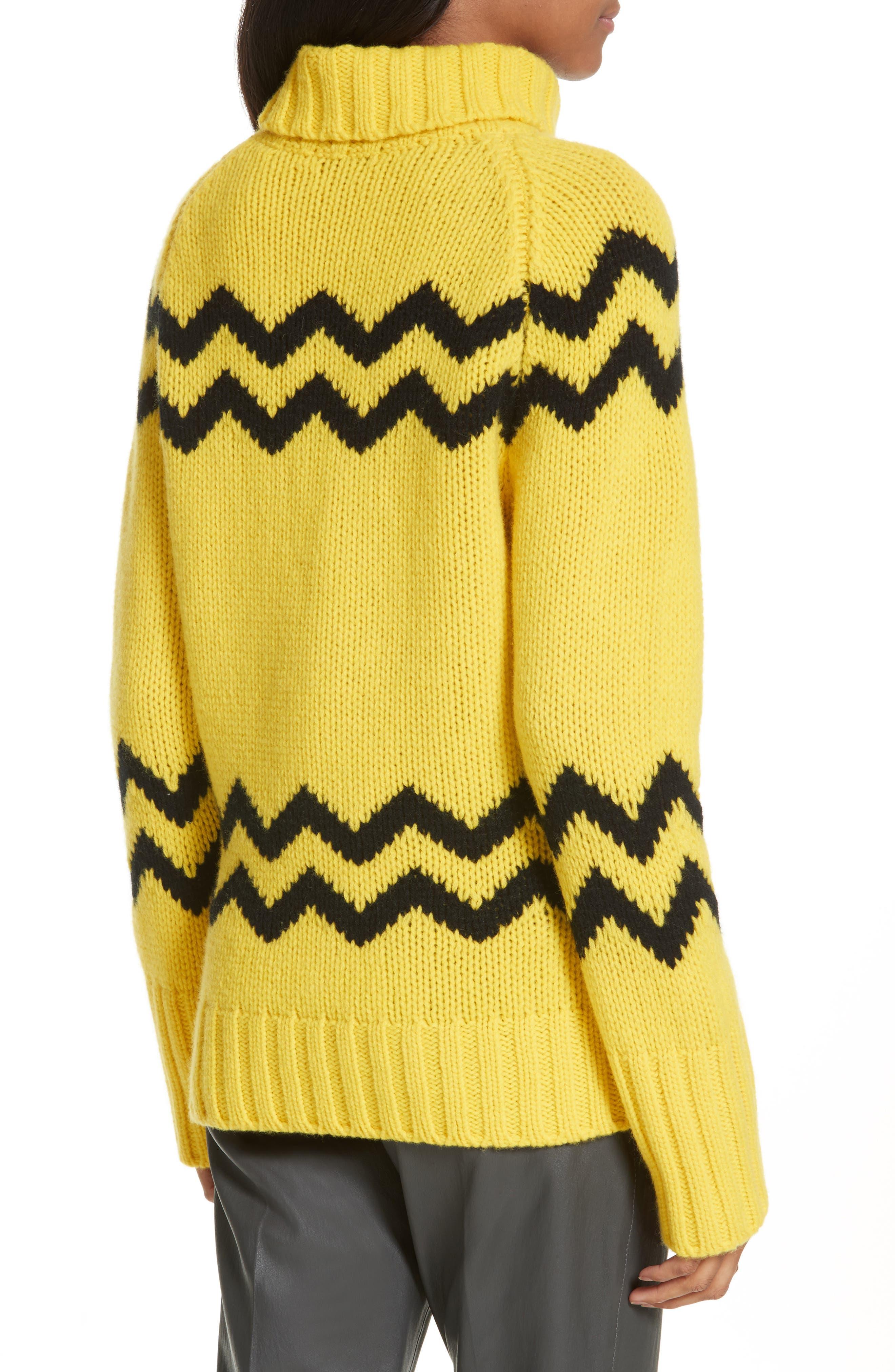 Chunky Intarsia Turtleneck Sweater,                             Alternate thumbnail 2, color,                             750