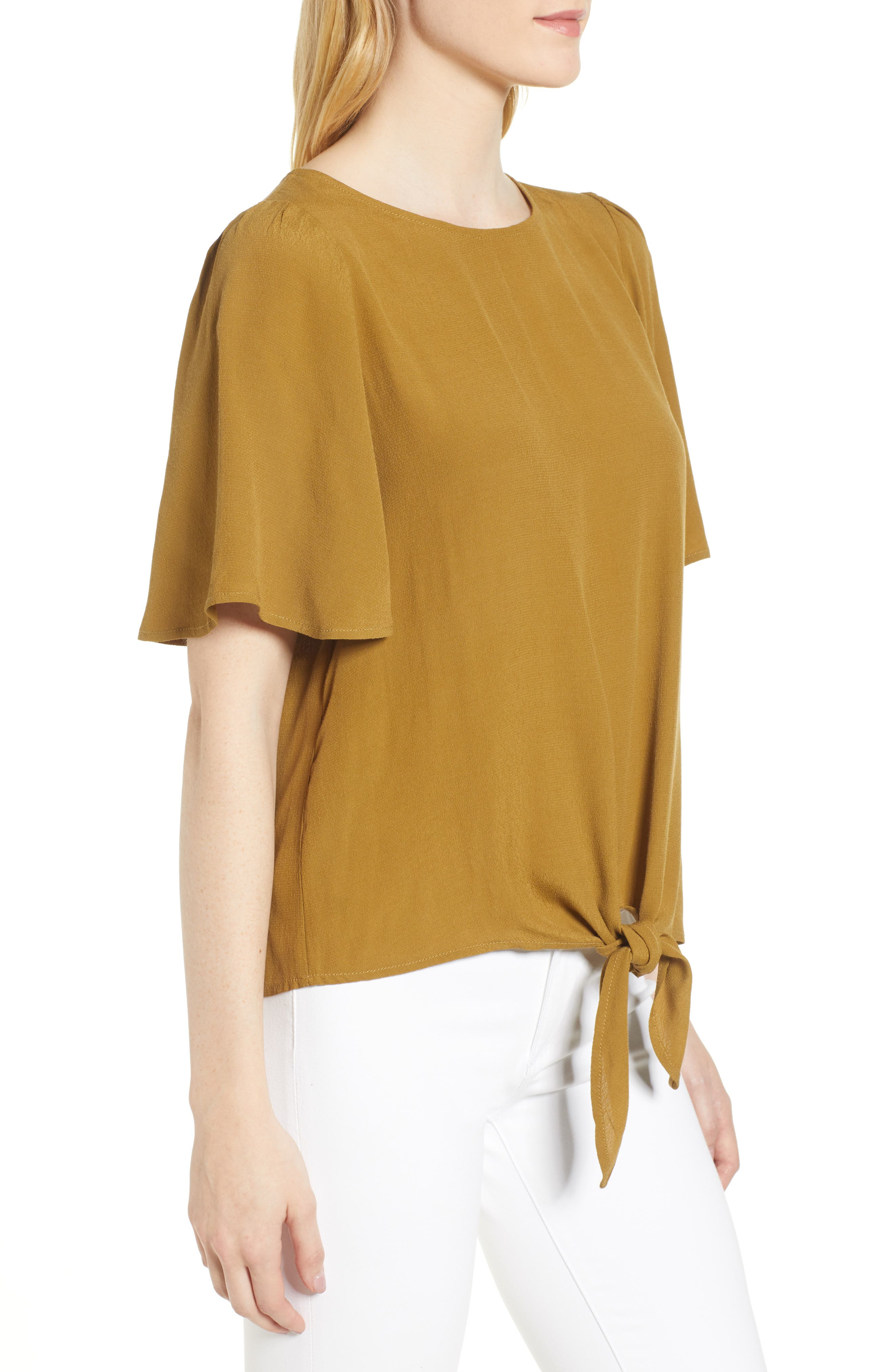 Ruffle Tie Front Top,                             Alternate thumbnail 11, color,