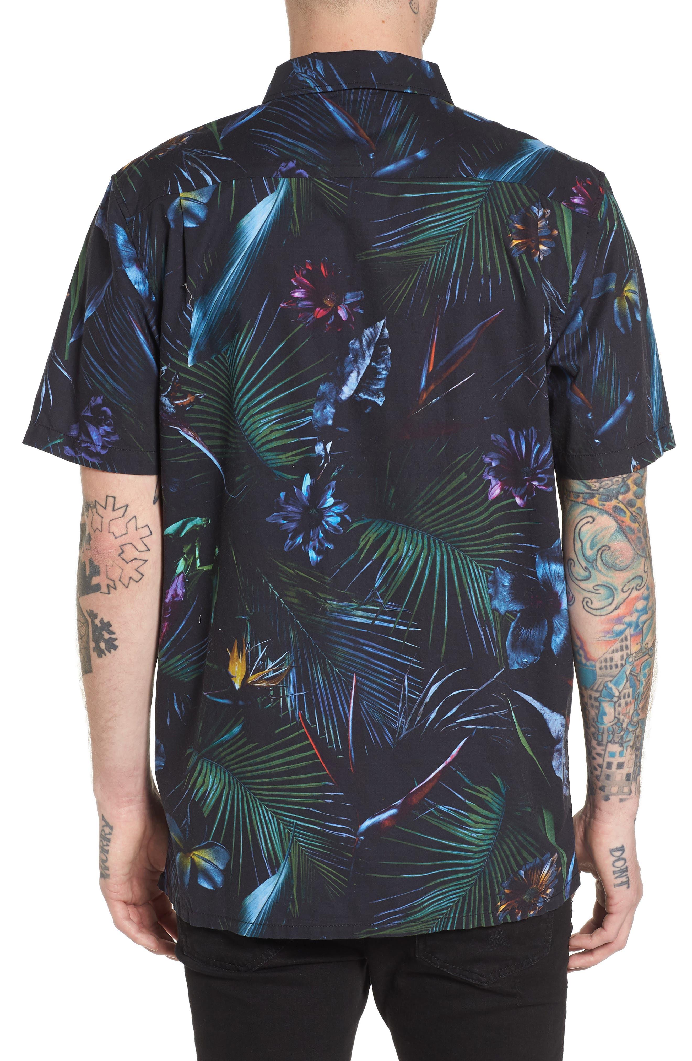 Neo Jungle Short Sleeve Shirt,                             Alternate thumbnail 2, color,                             001