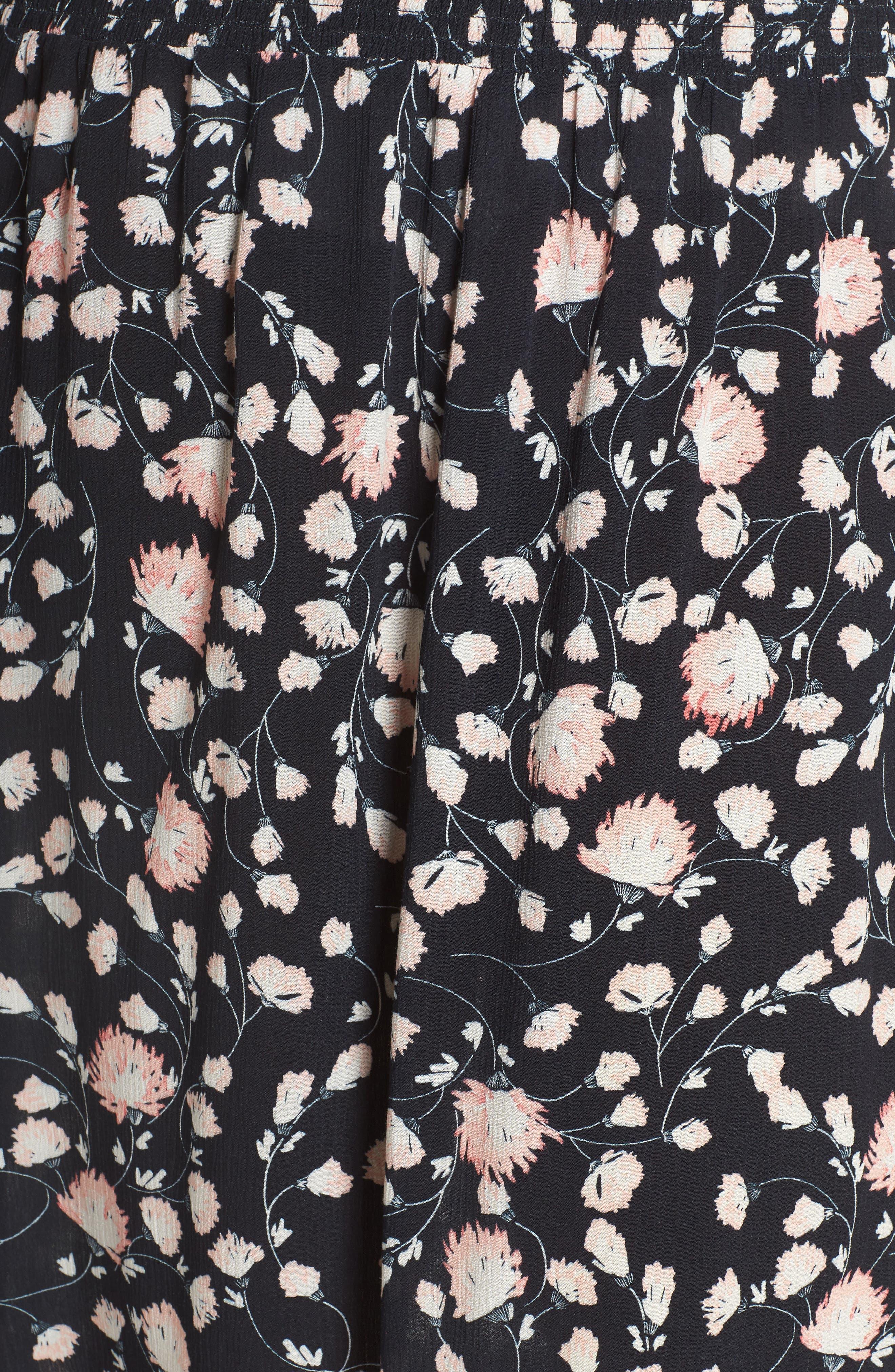 Smocked Waist Skirt,                             Alternate thumbnail 5, color,                             002