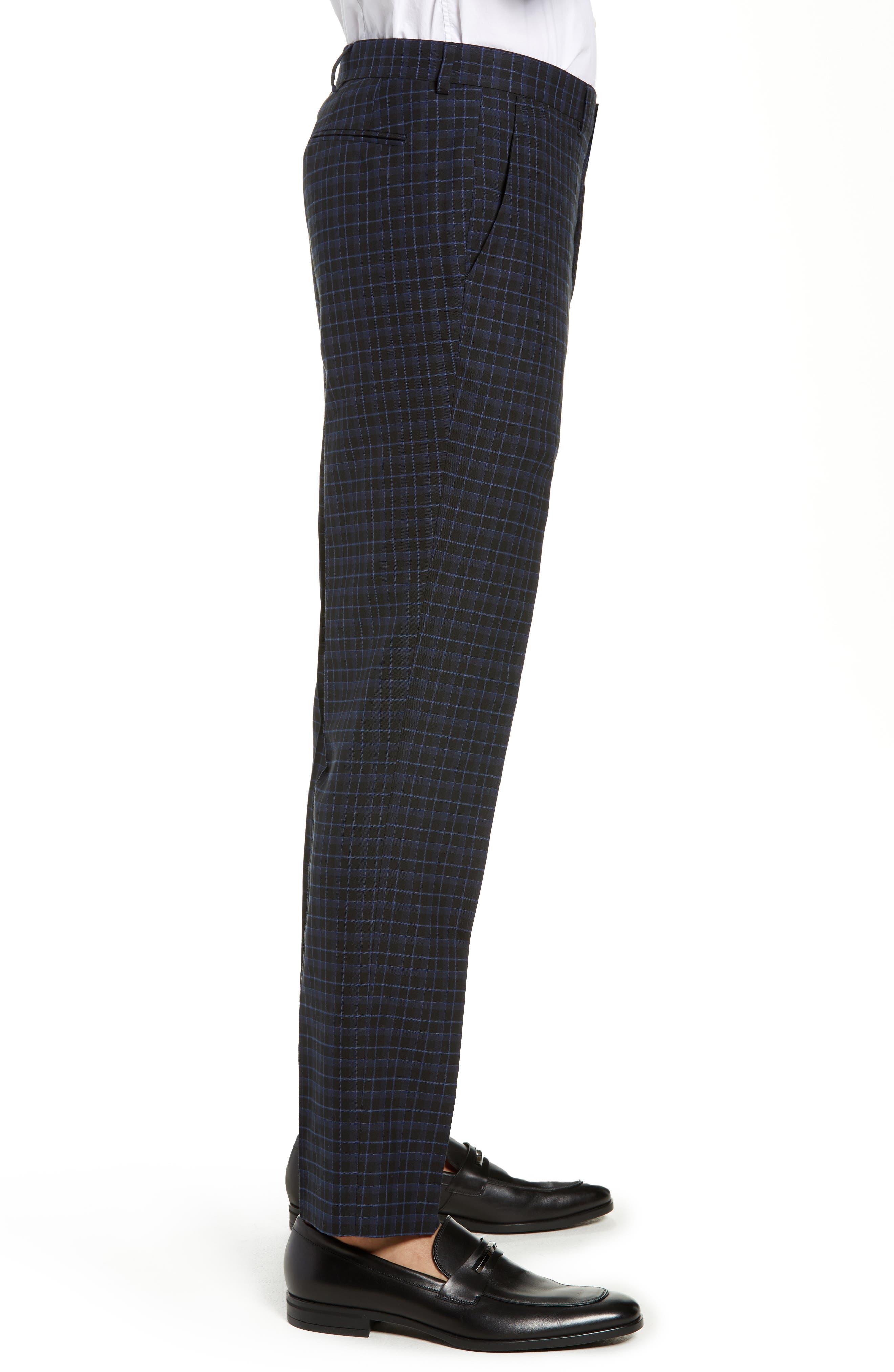 Alsager Slim Fit Check Suit Pants,                             Alternate thumbnail 3, color,                             021
