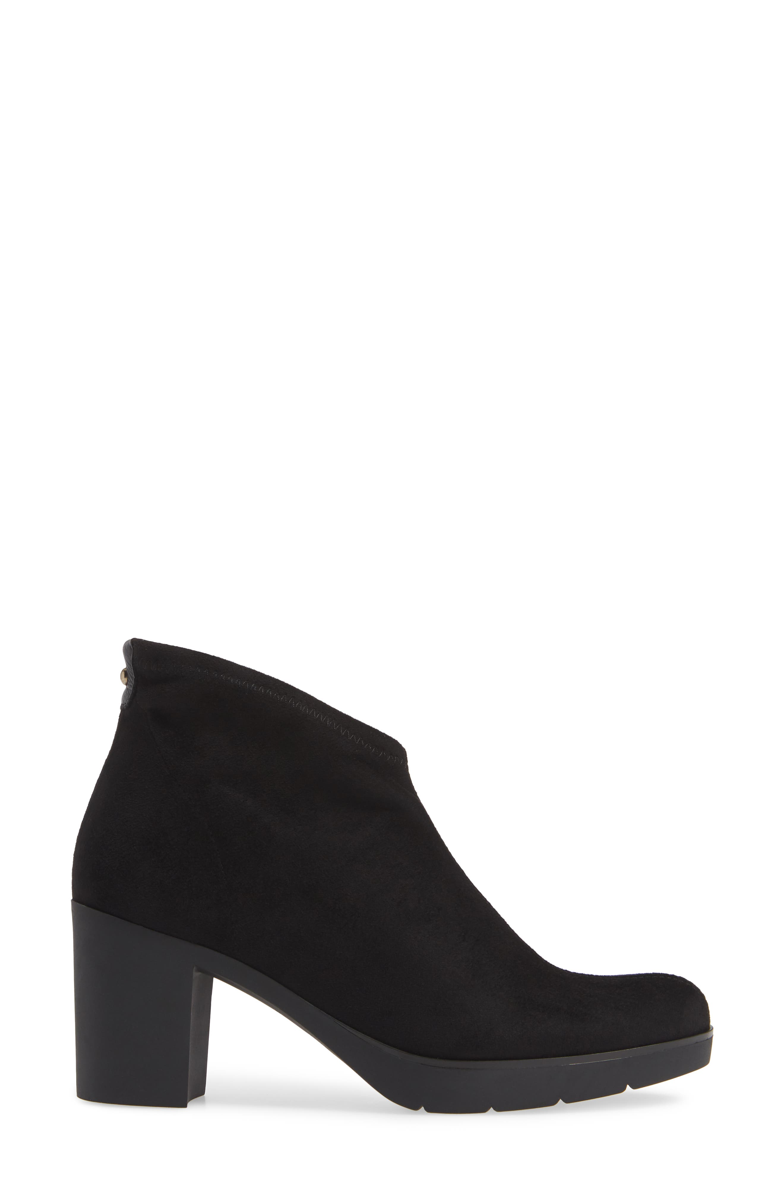 'Finley' Bootie,                             Alternate thumbnail 3, color,                             BLACK/ BLACK FABRIC