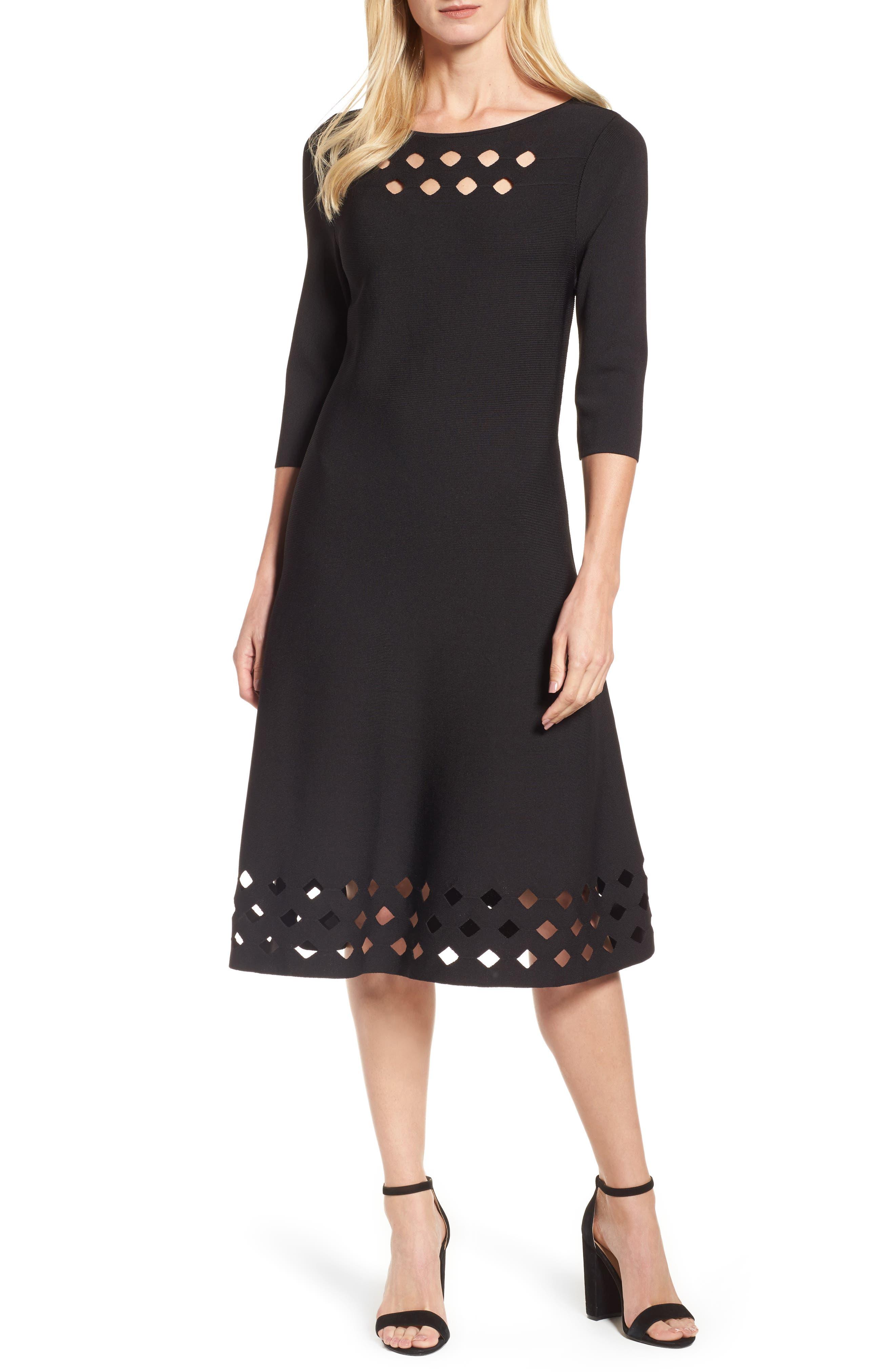 Time Out Twirl Midi Dress,                             Main thumbnail 1, color,                             004