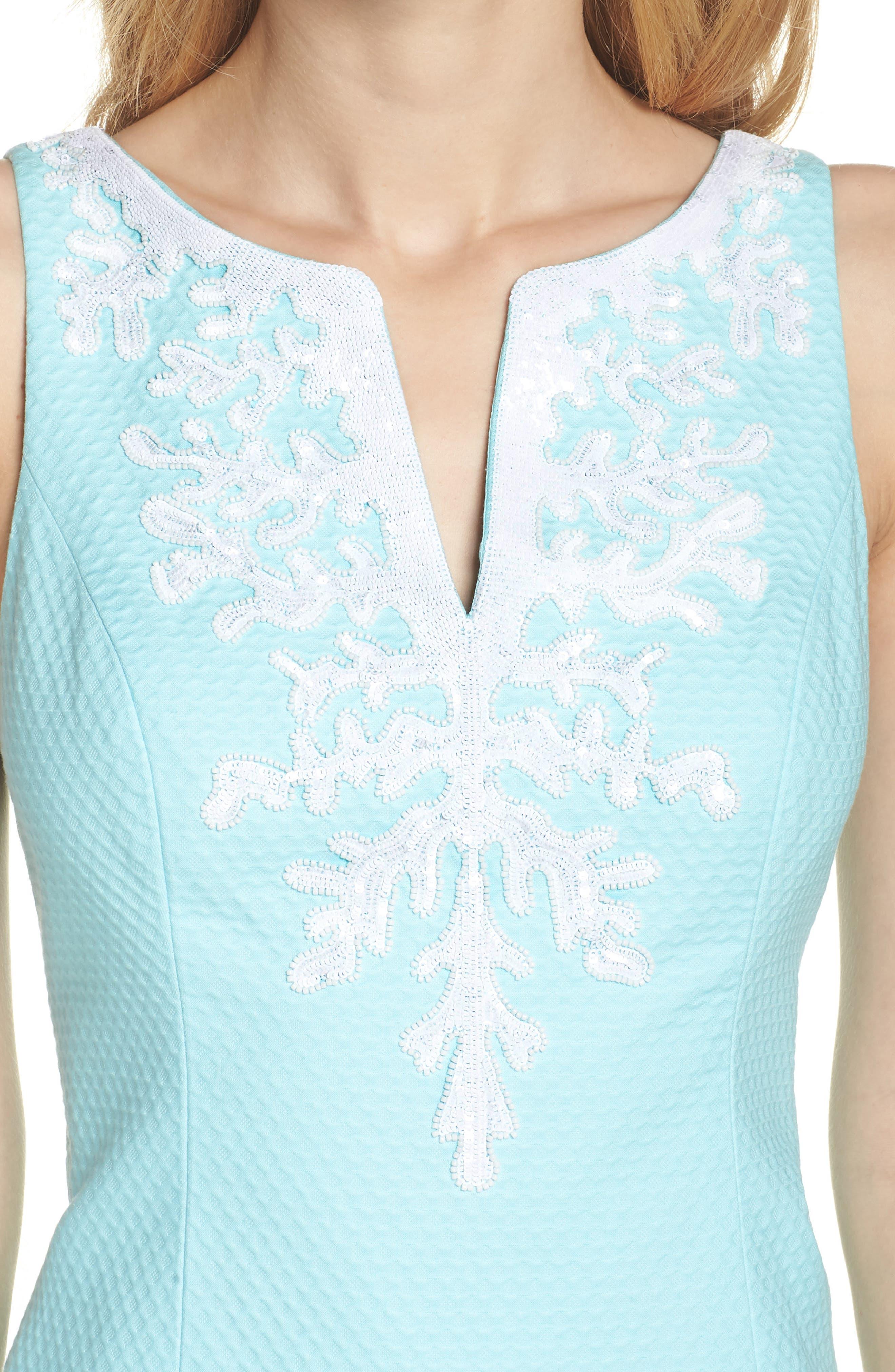 Gabby Sheath Dress,                             Alternate thumbnail 4, color,                             400