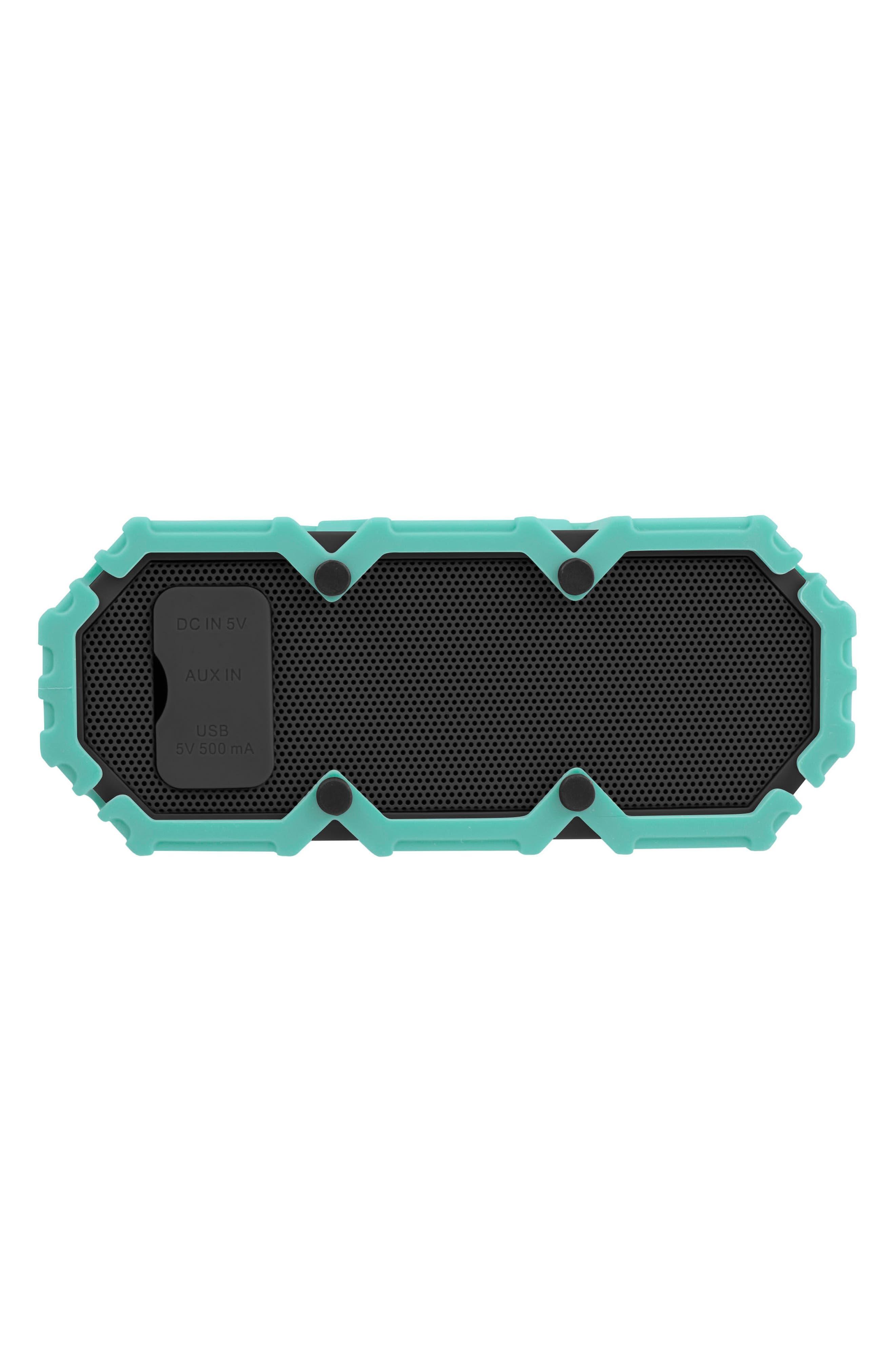 Mini Lifejacket S3 Waterproof Wireless Speaker,                             Alternate thumbnail 2, color,                             MINT GREEN/ DARK GREY