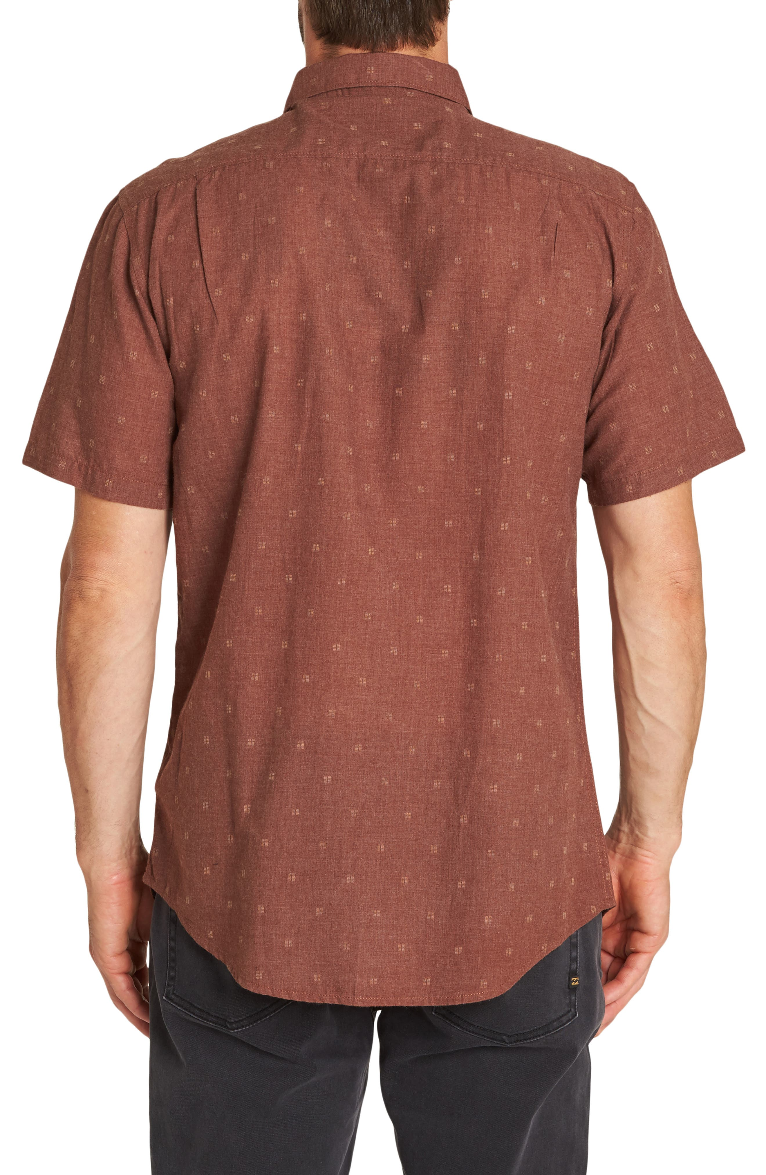 All Day Jacquard Shirt,                             Alternate thumbnail 2, color,                             RUST HEATHER