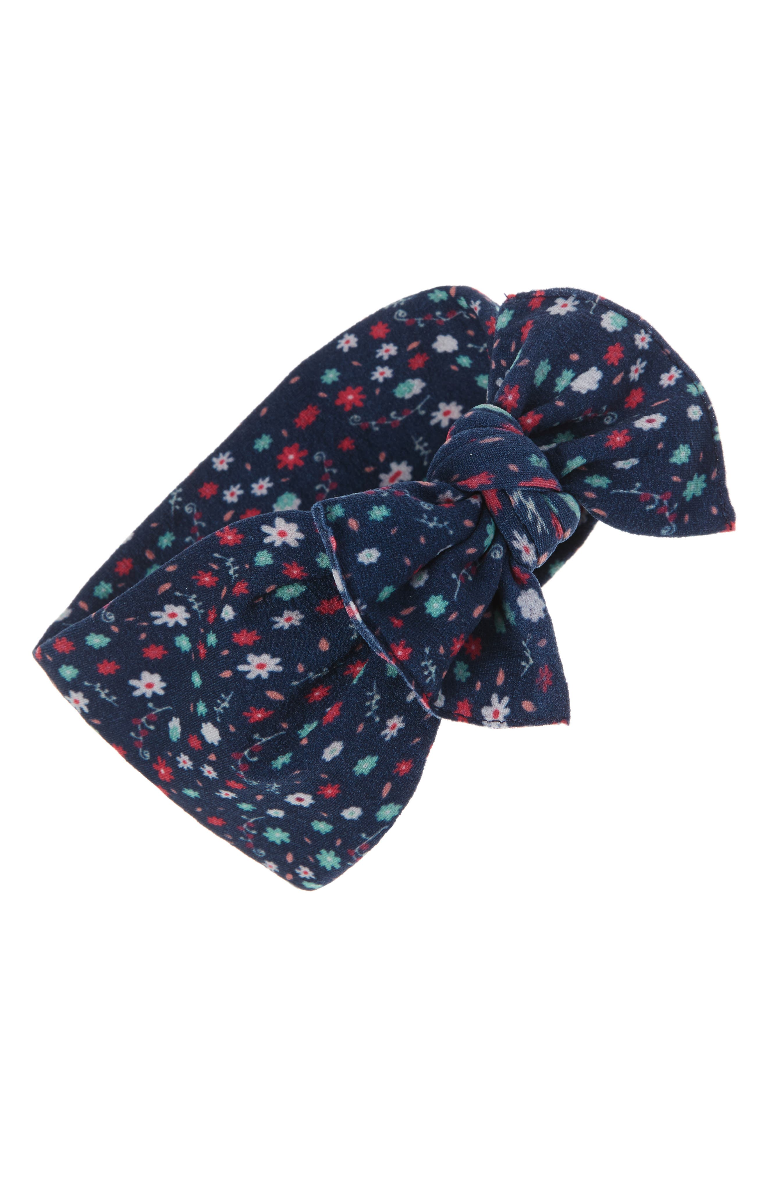 Printed Knot Headband,                         Main,                         color, 402