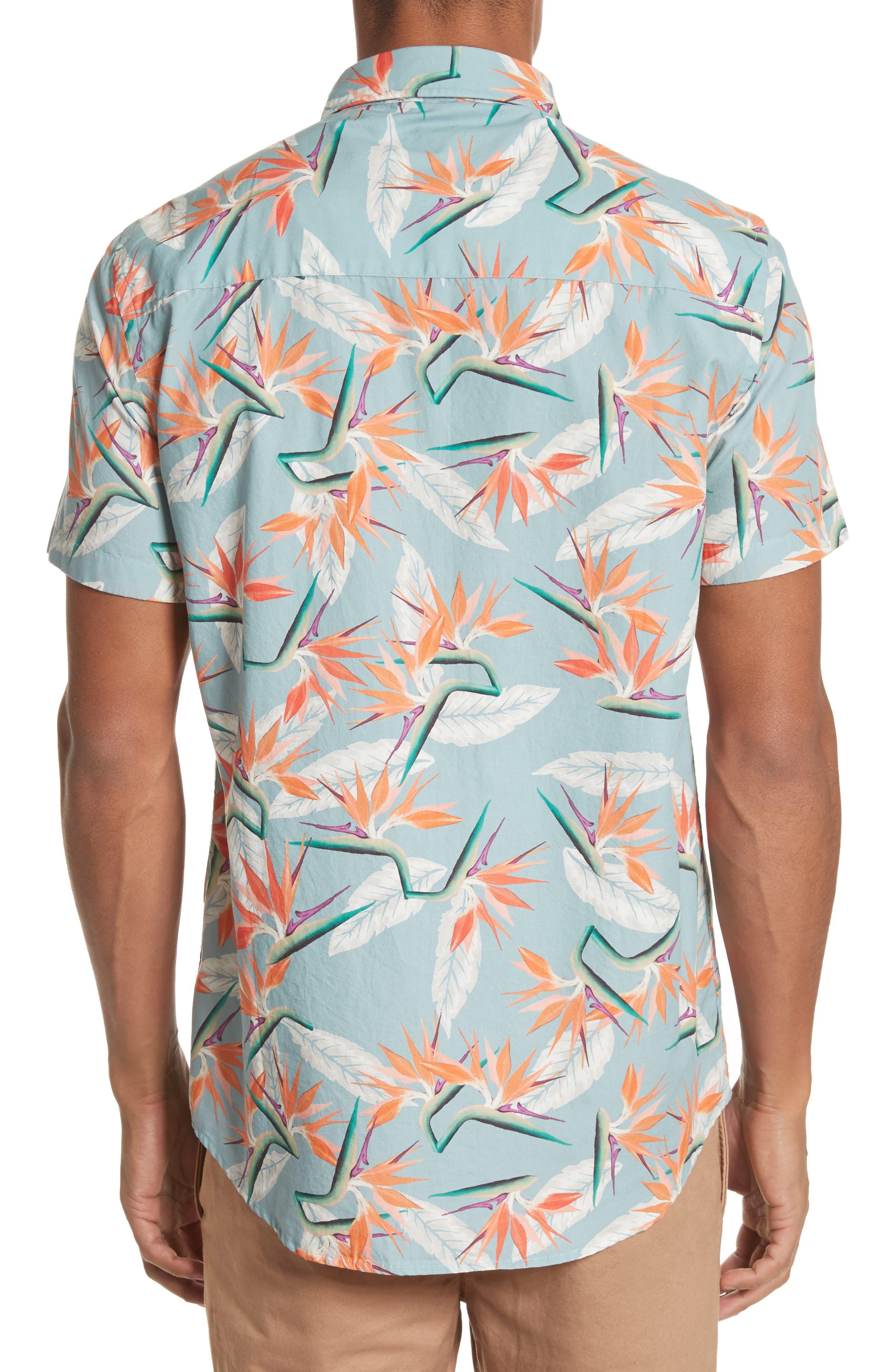 Esquina Paradise Woven Shirt,                             Alternate thumbnail 2, color,                             PARADISE PRINT