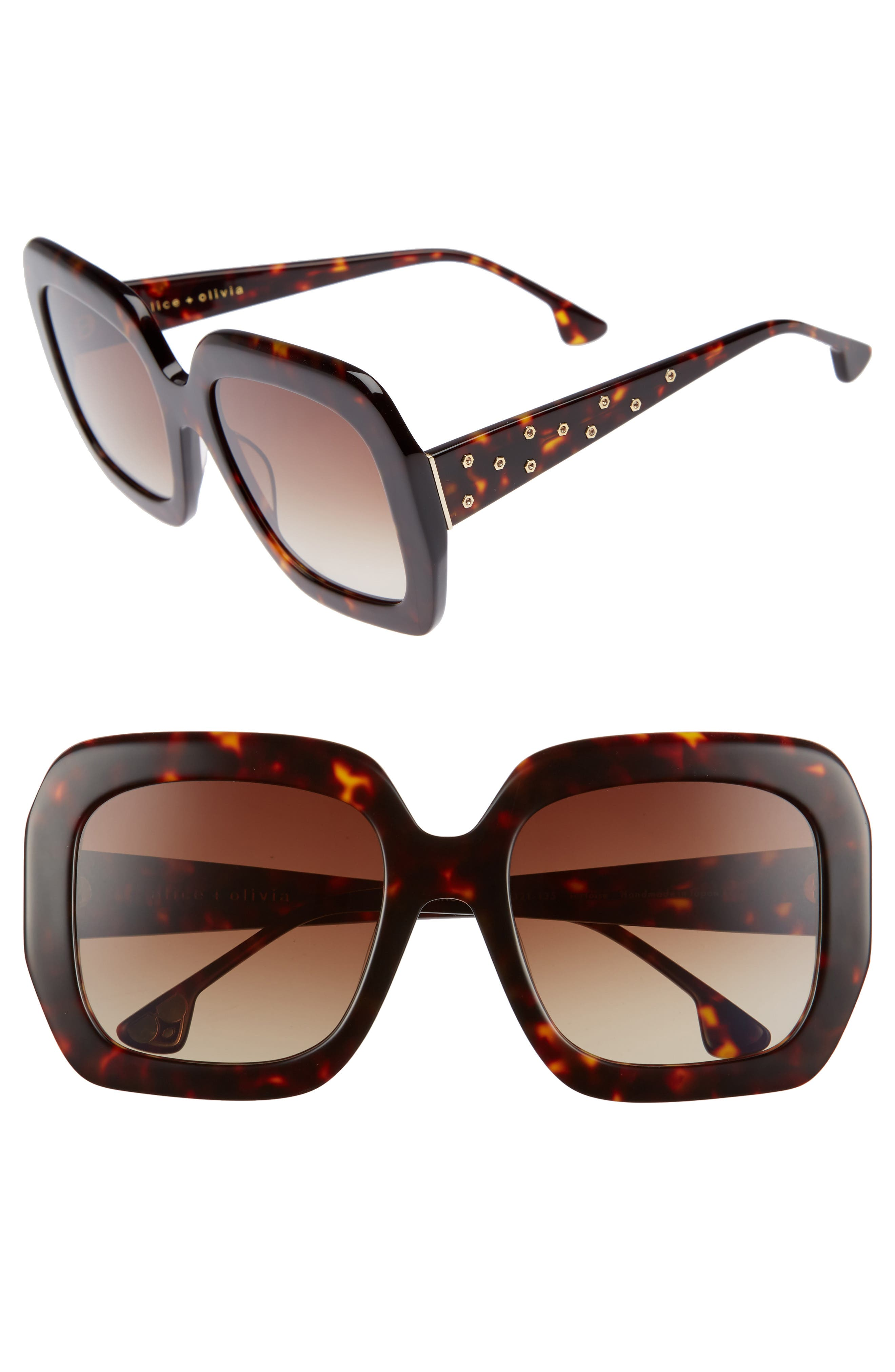 Lexington 55mm Square Sunglasses,                             Main thumbnail 2, color,