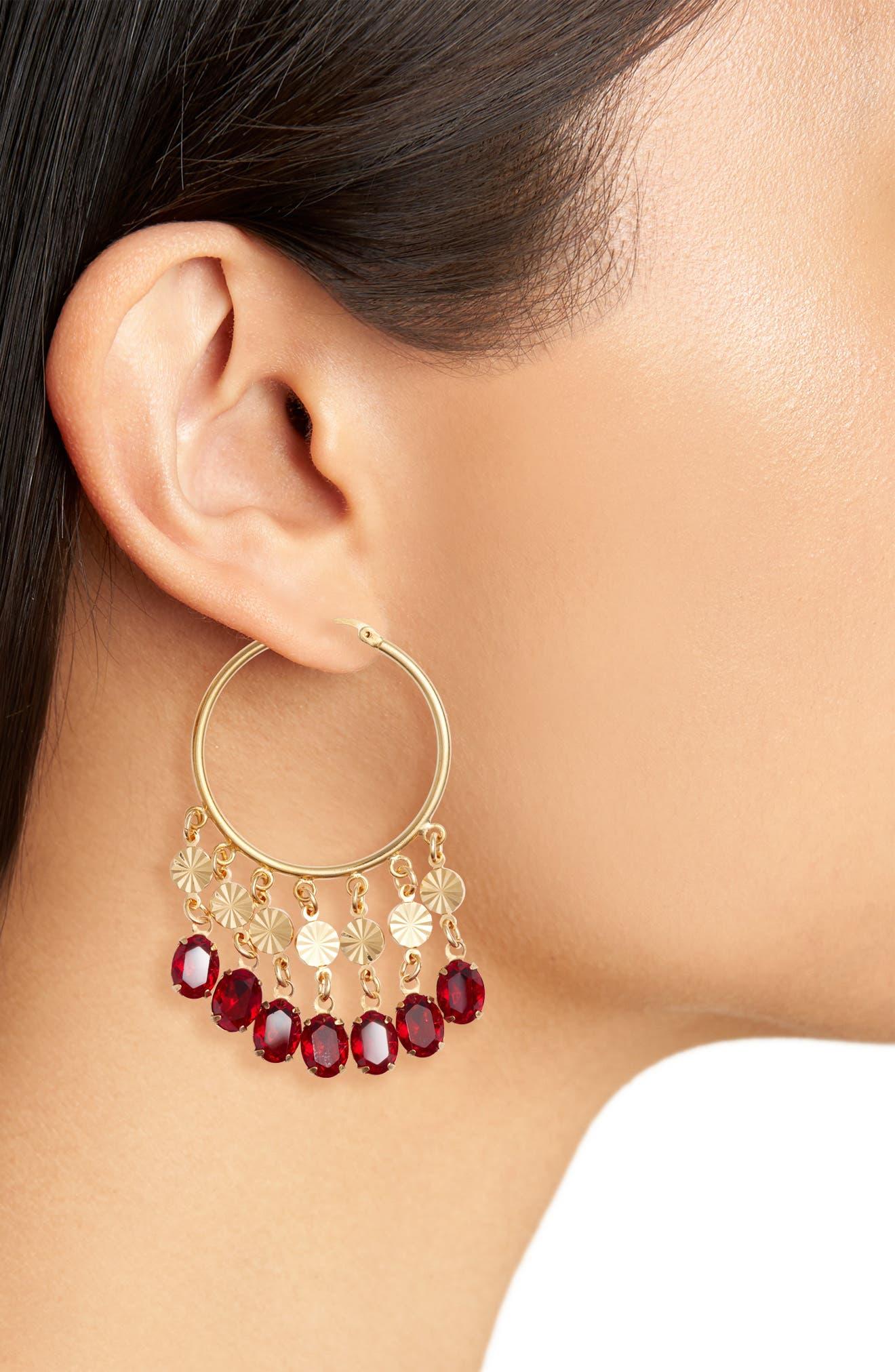 Cha Cha Hoop Earrings,                             Alternate thumbnail 2, color,                             710