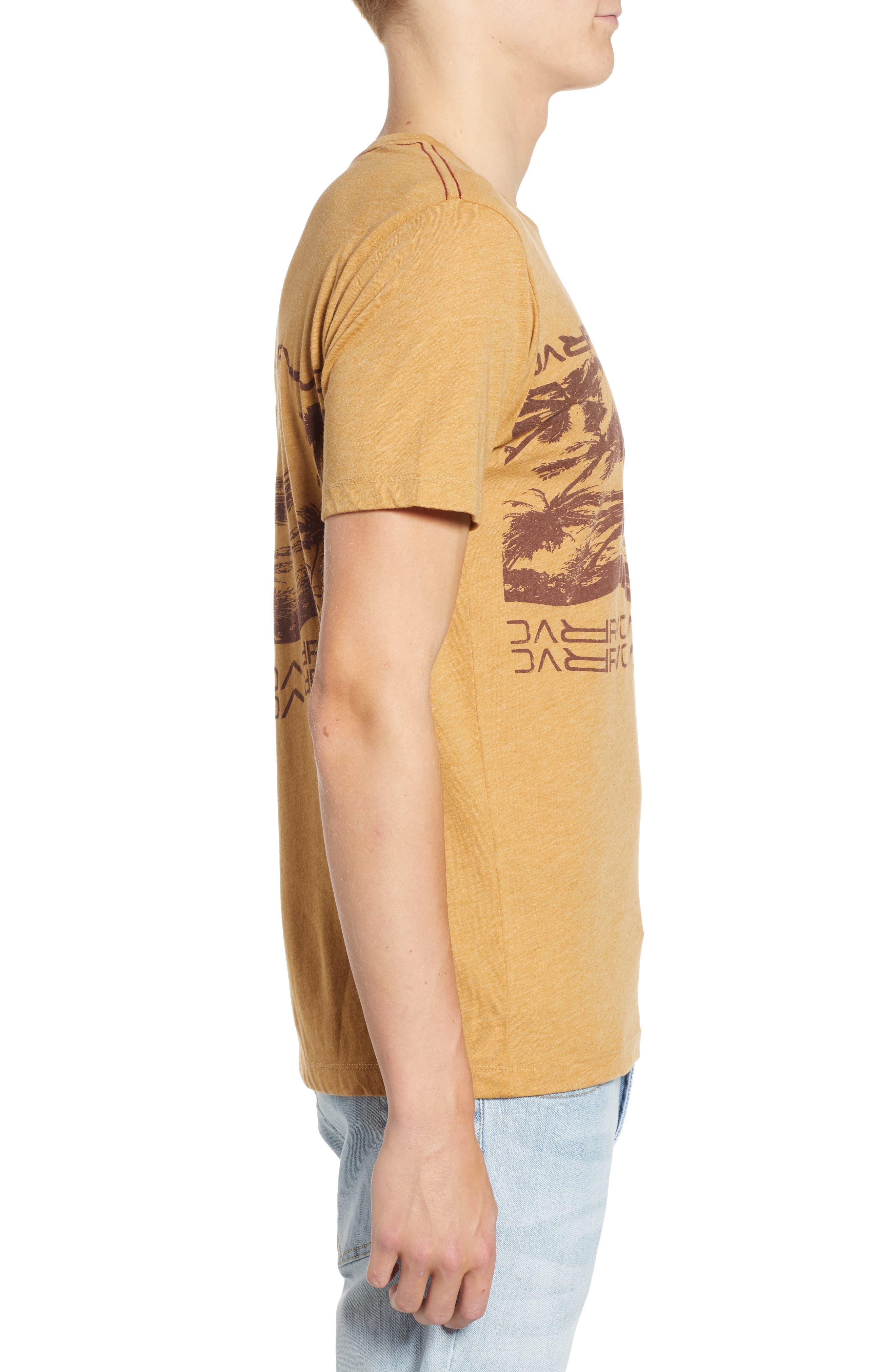 Warped Palm Graphic T-Shirt,                             Alternate thumbnail 3, color,                             APPLE CINNAMON