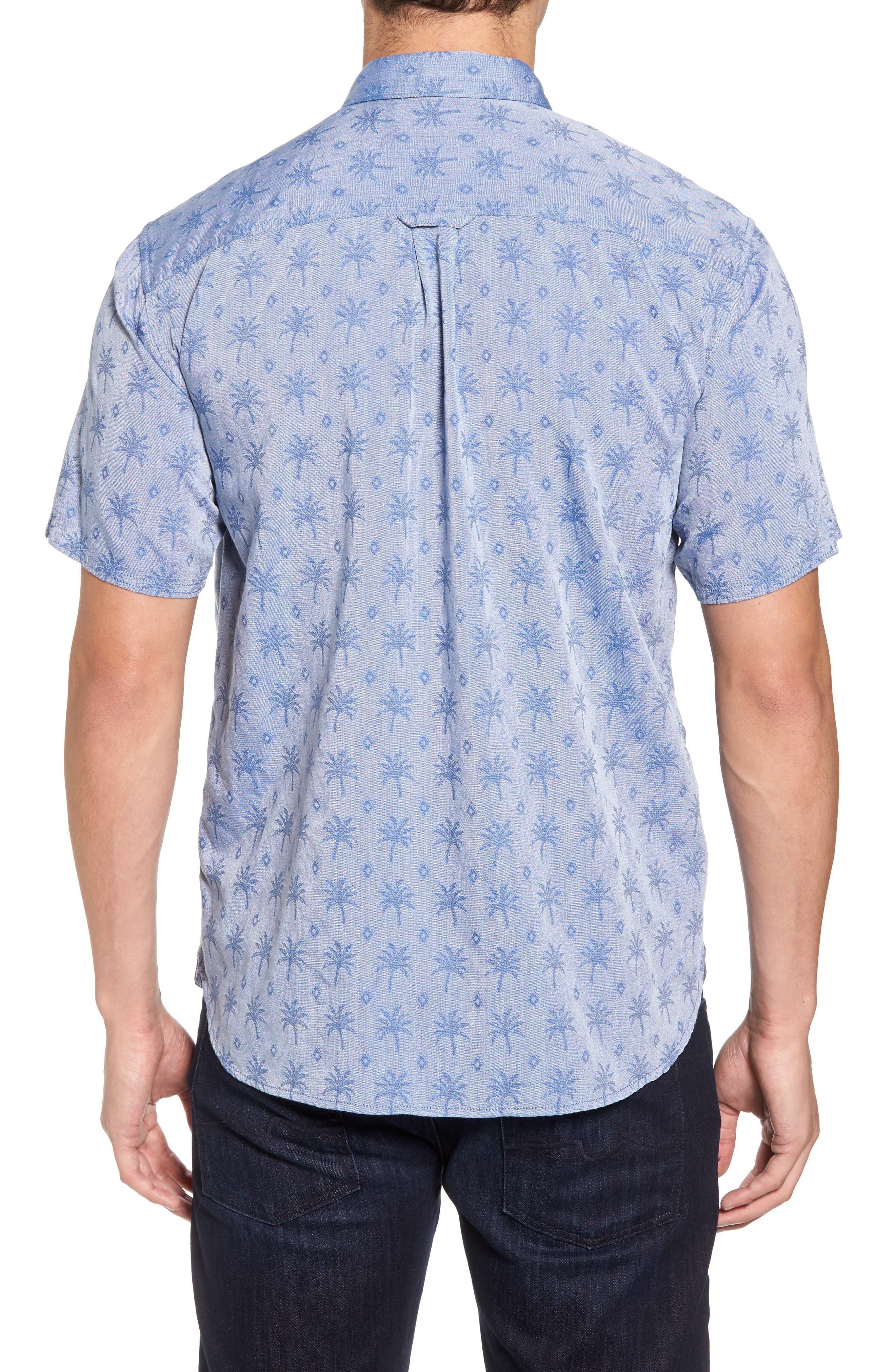 Palm Palm Regular Fit Jacquard Sport Shirt,                             Alternate thumbnail 2, color,                             400