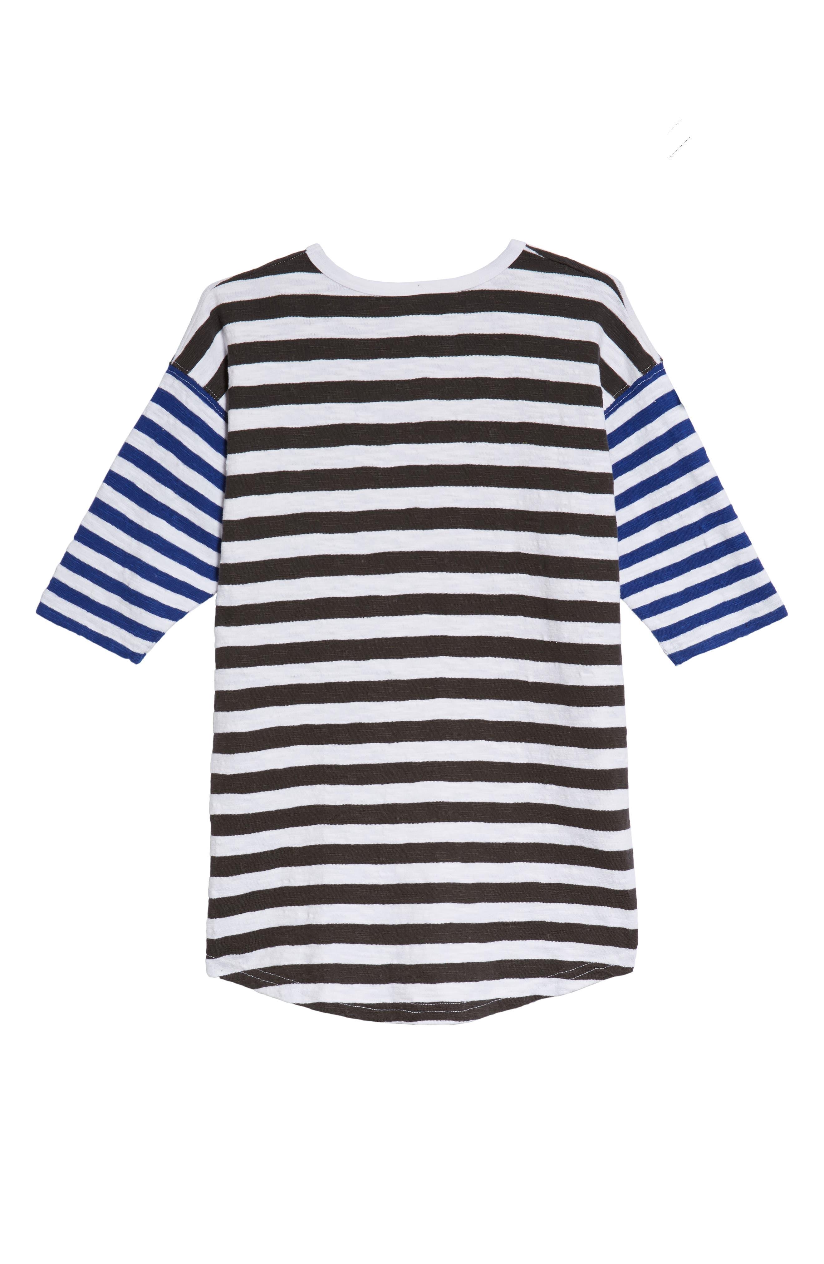Mixed Stripe Dress,                             Alternate thumbnail 2, color,