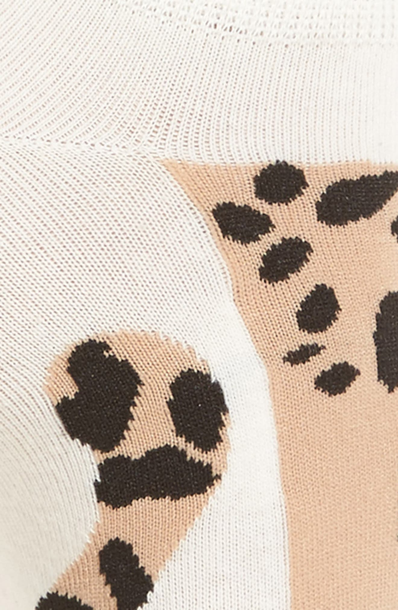 cheetah no-show socks,                             Alternate thumbnail 4, color,
