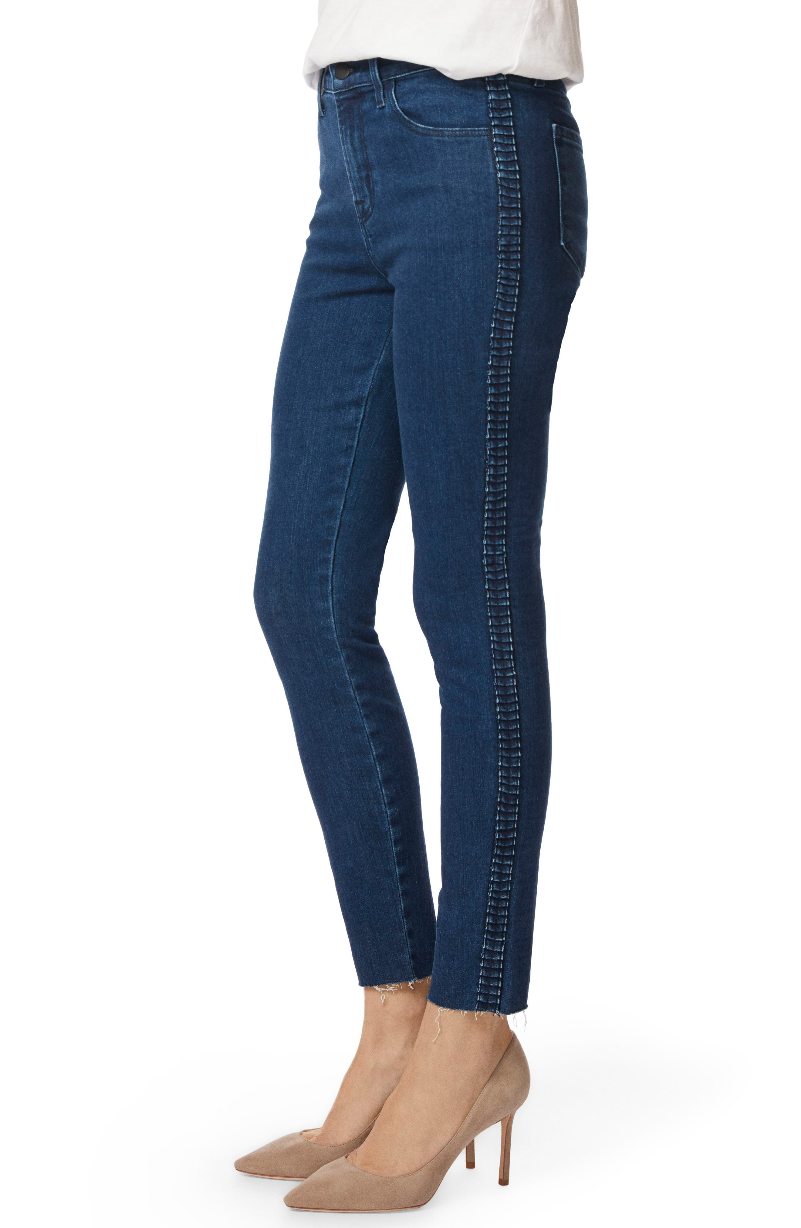 J BRAND,                             Alana High Waist Ankle Skinny Jeans,                             Alternate thumbnail 3, color,                             405