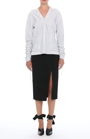Compact Crepe Pencil Skirt, video thumbnail