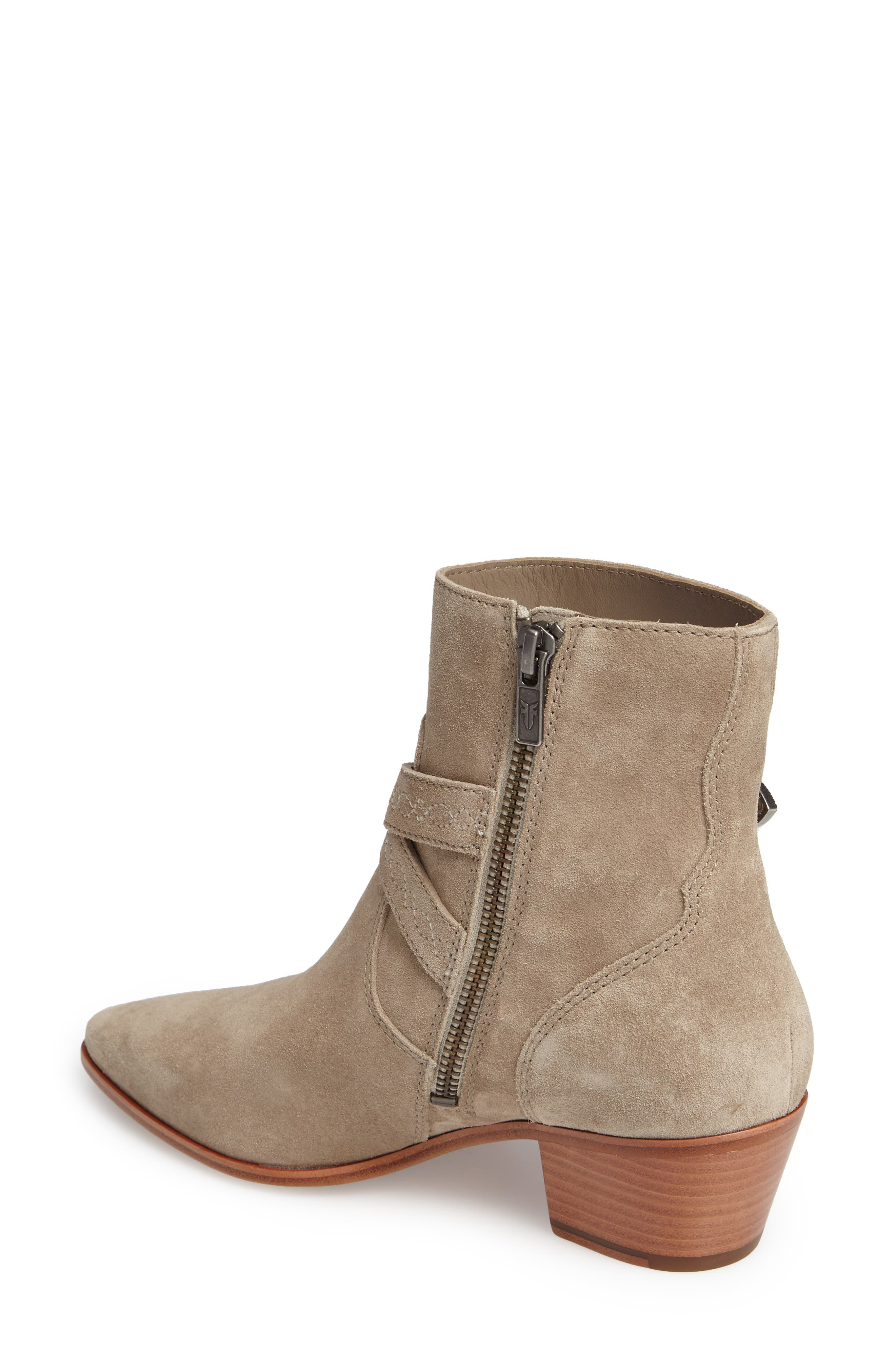 Ellen Buckle Strap Bootie,                             Alternate thumbnail 2, color,                             ASH