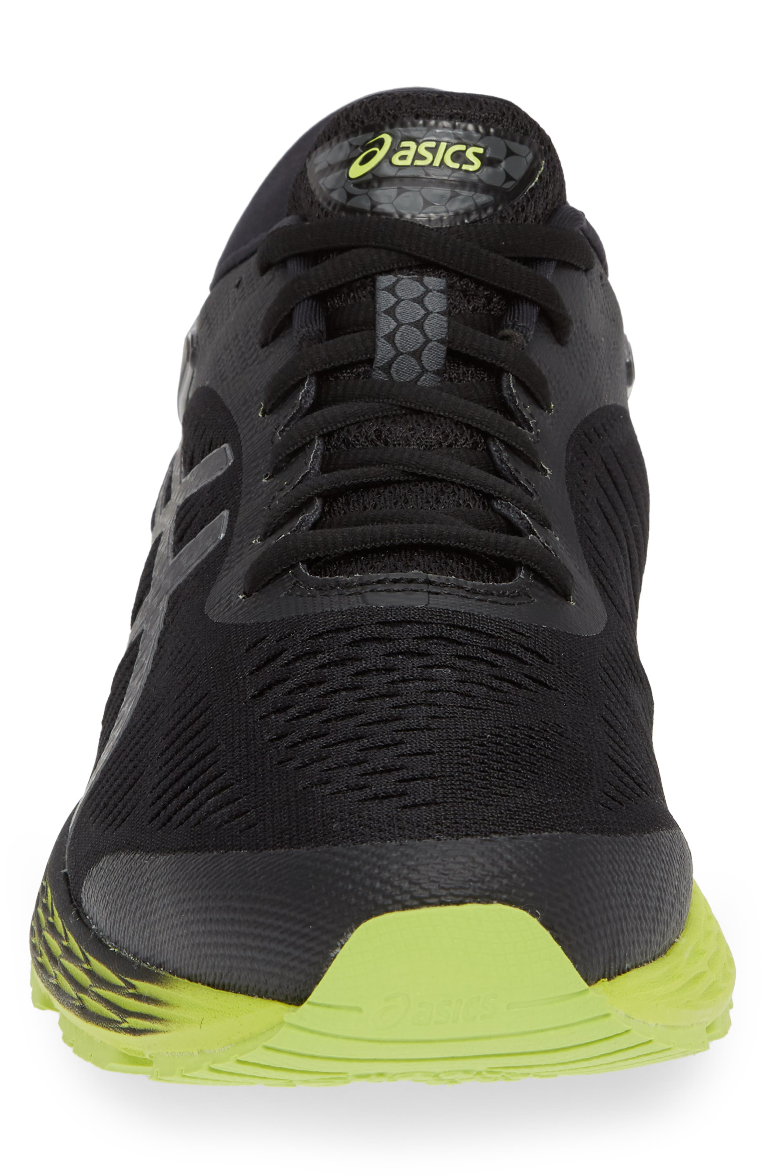 GEL-Kayano<sup>®</sup> 25 Running Shoe,                             Alternate thumbnail 4, color,                             BLACK/ NEON LIME