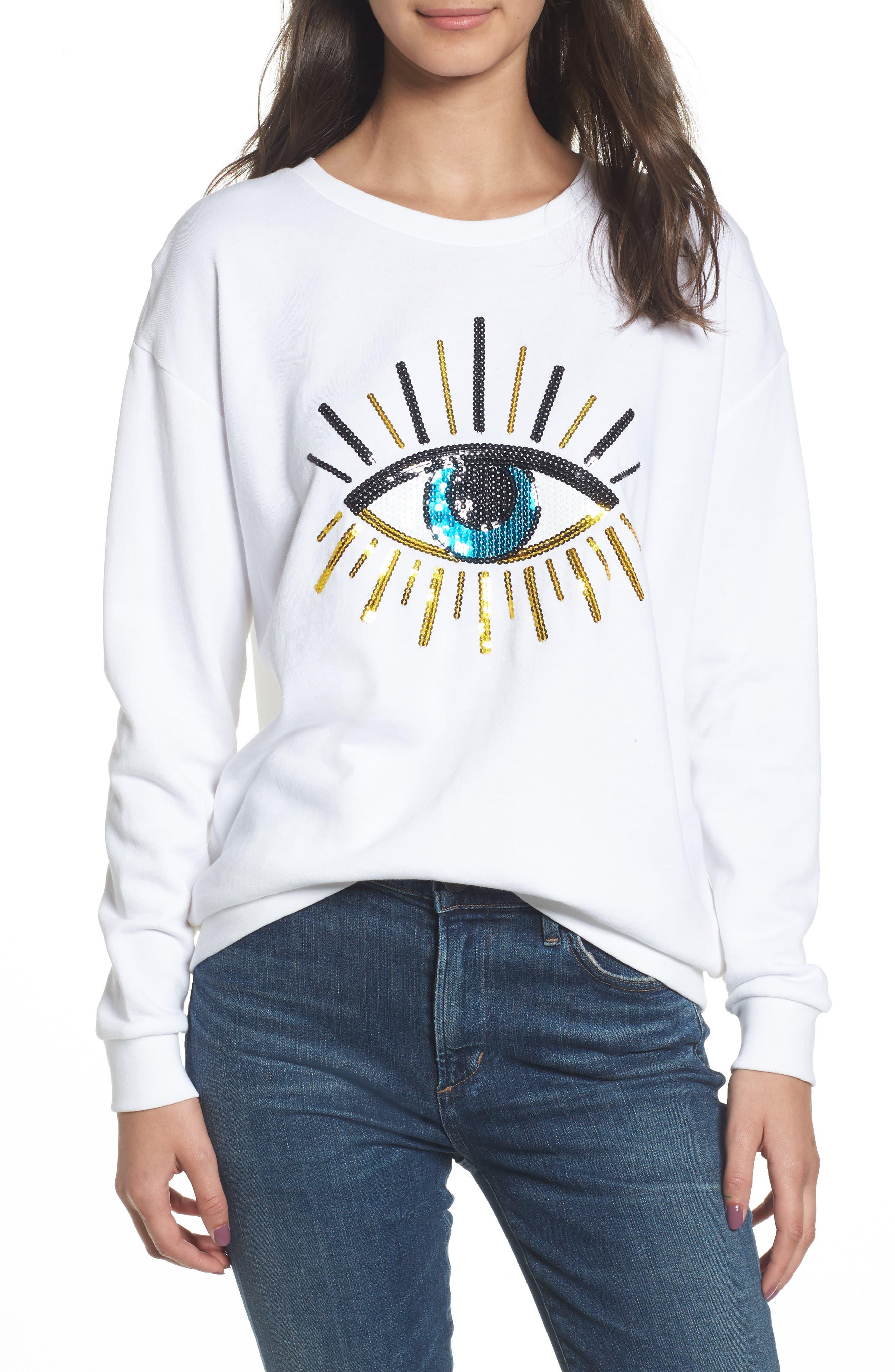 Alexa - Evil Eye Sweatshirt,                             Main thumbnail 2, color,