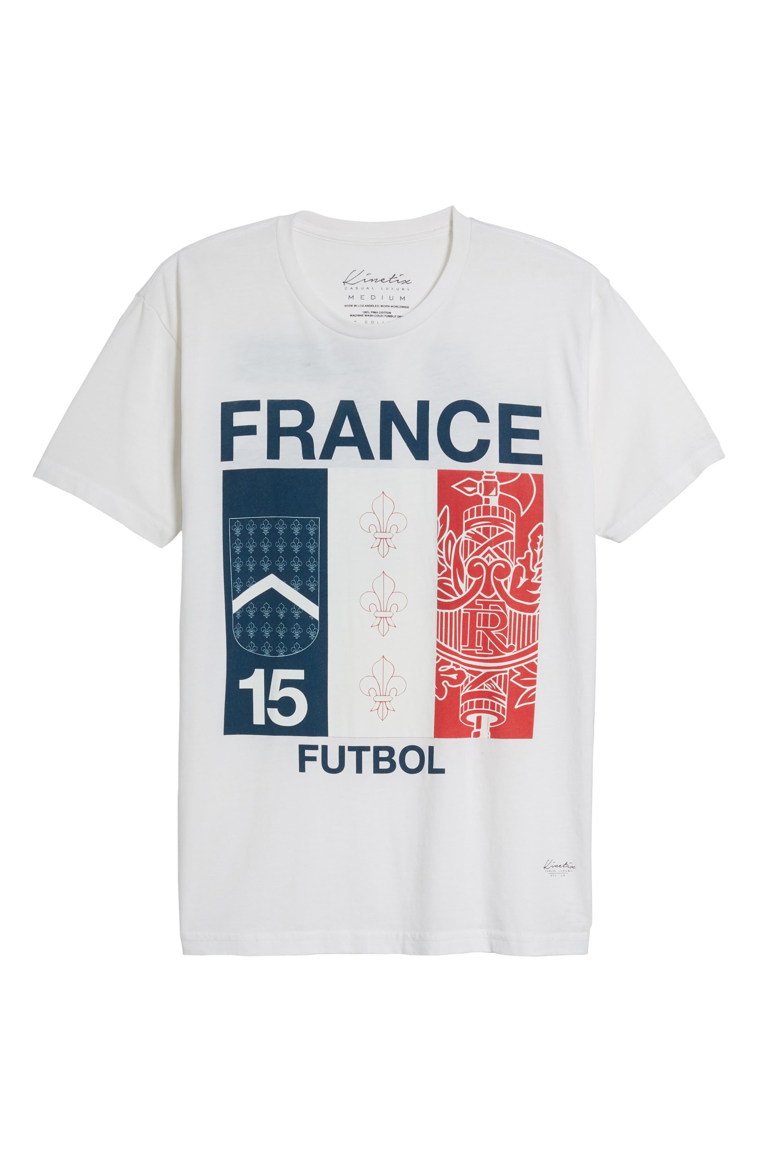 France Jersey T-Shirt,                             Alternate thumbnail 6, color,                             100